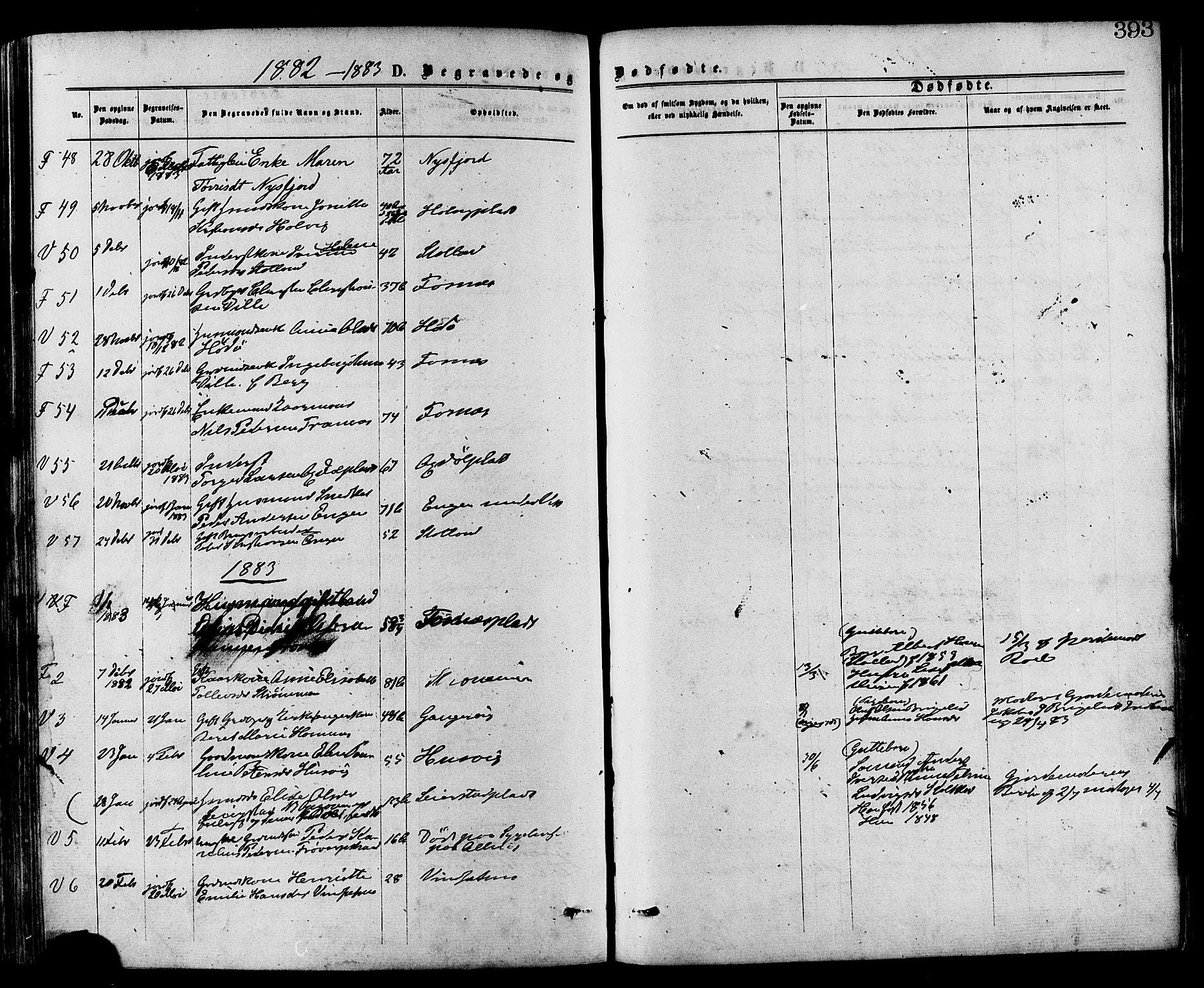 SAT, Ministerialprotokoller, klokkerbøker og fødselsregistre - Nord-Trøndelag, 773/L0616: Ministerialbok nr. 773A07, 1870-1887, s. 393