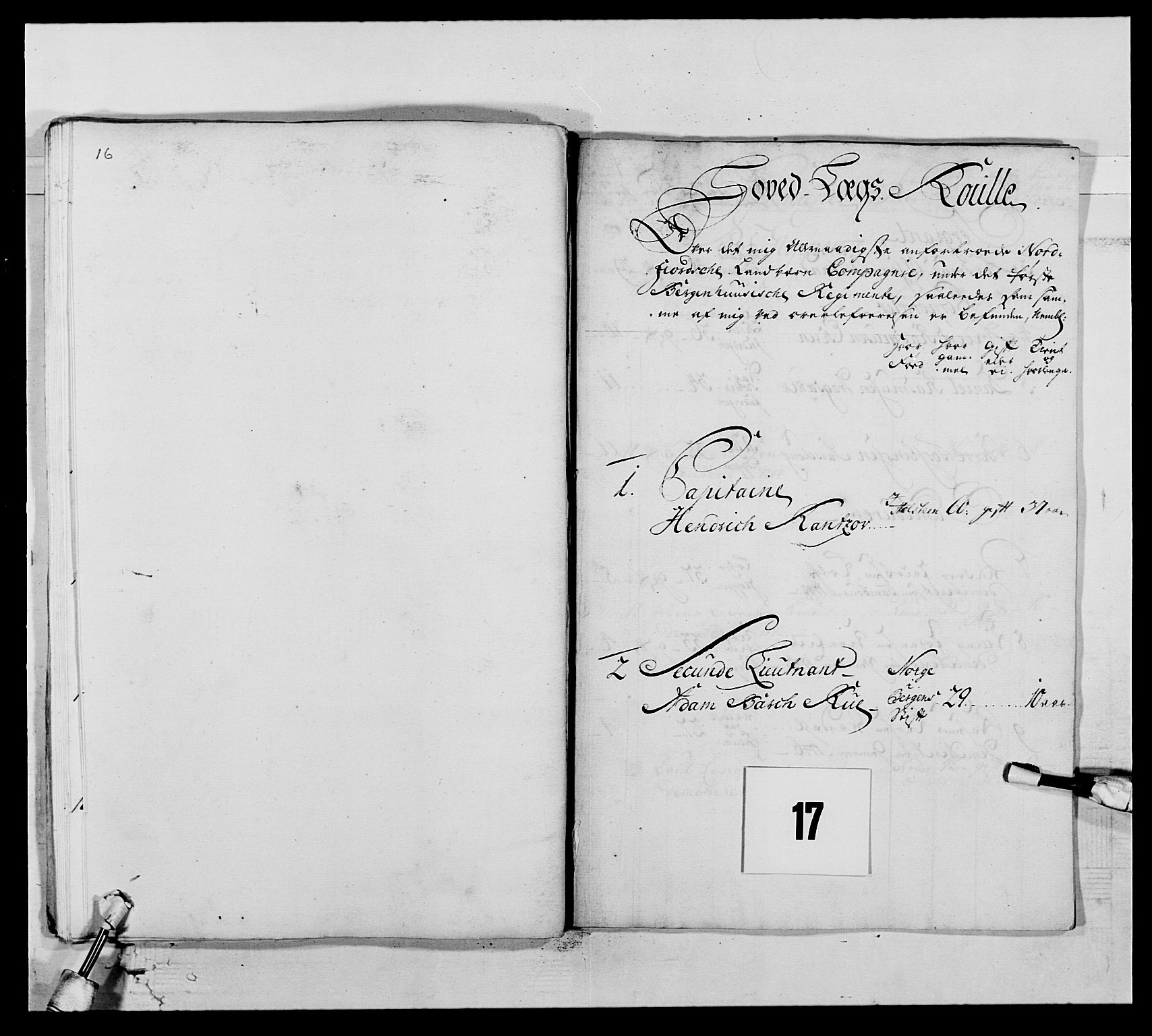 RA, Kommanderende general (KG I) med Det norske krigsdirektorium, E/Ea/L0517: 1. Bergenhusiske regiment, 1742-1756, s. 181