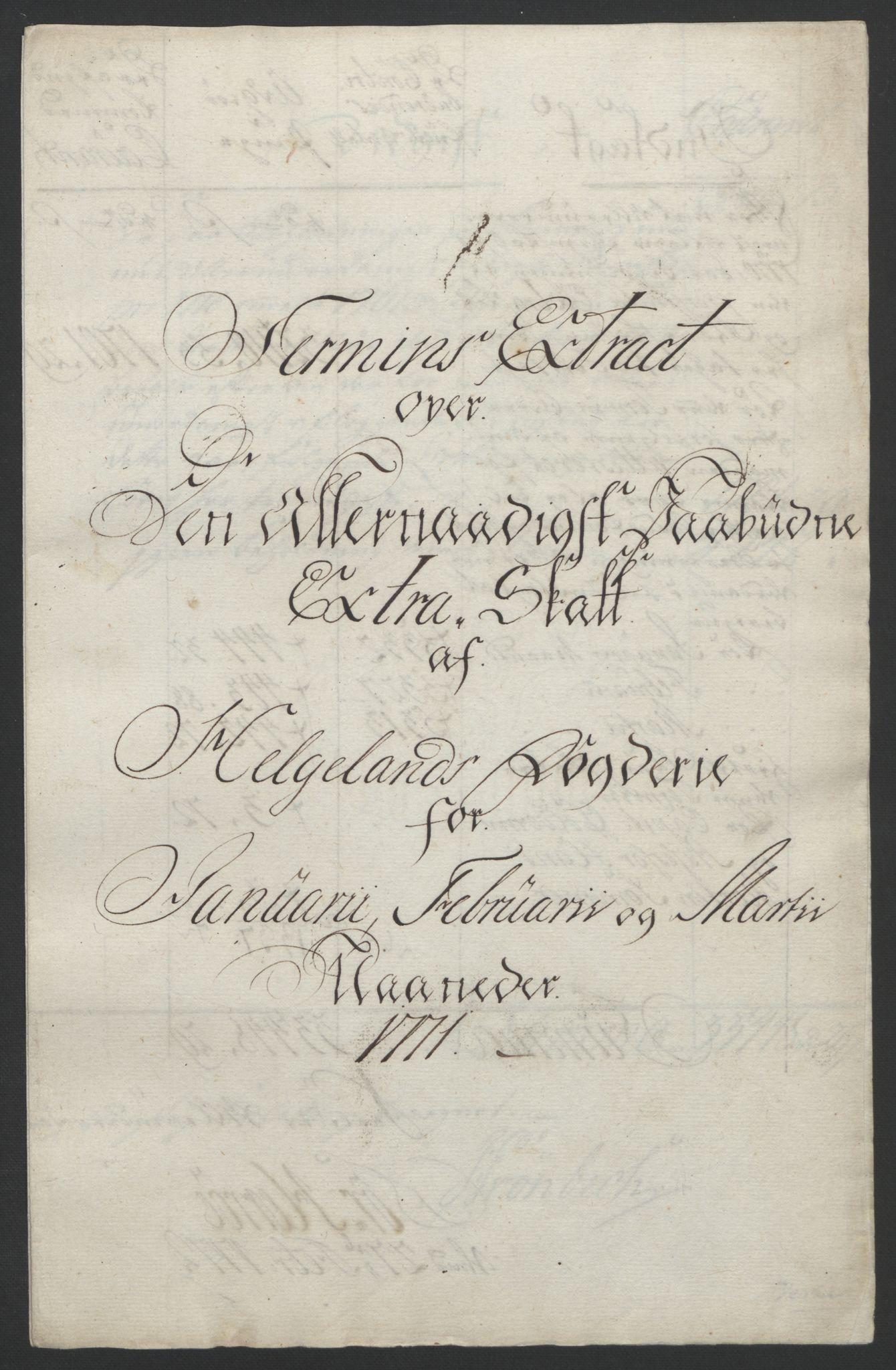 RA, Rentekammeret inntil 1814, Reviderte regnskaper, Fogderegnskap, R65/L4573: Ekstraskatten Helgeland, 1762-1772, s. 323