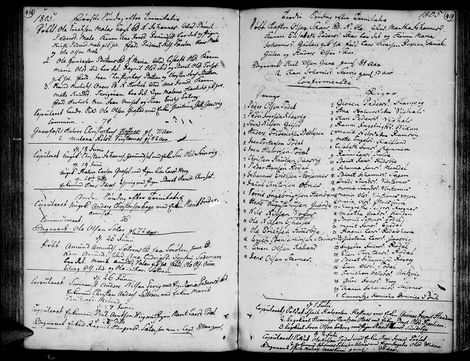 SAT, Ministerialprotokoller, klokkerbøker og fødselsregistre - Møre og Romsdal, 578/L0902: Ministerialbok nr. 578A01, 1772-1819, s. 418-419