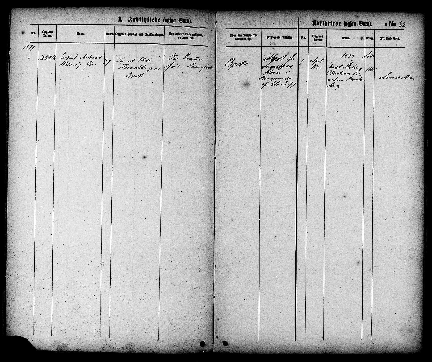 SAT, Ministerialprotokoller, klokkerbøker og fødselsregistre - Sør-Trøndelag, 608/L0334: Ministerialbok nr. 608A03, 1877-1886, s. 82