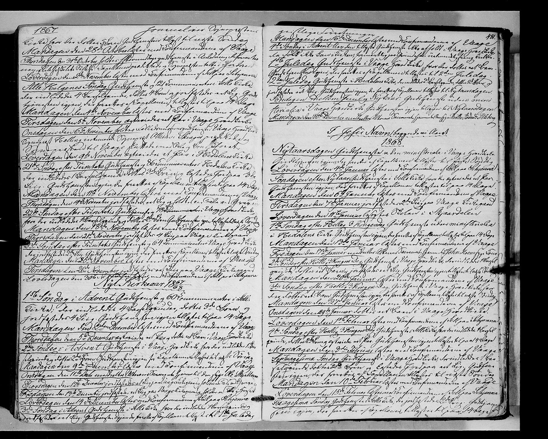 SAH, Vågå prestekontor, Ministerialbok nr. 6 /1, 1856-1872, s. 481