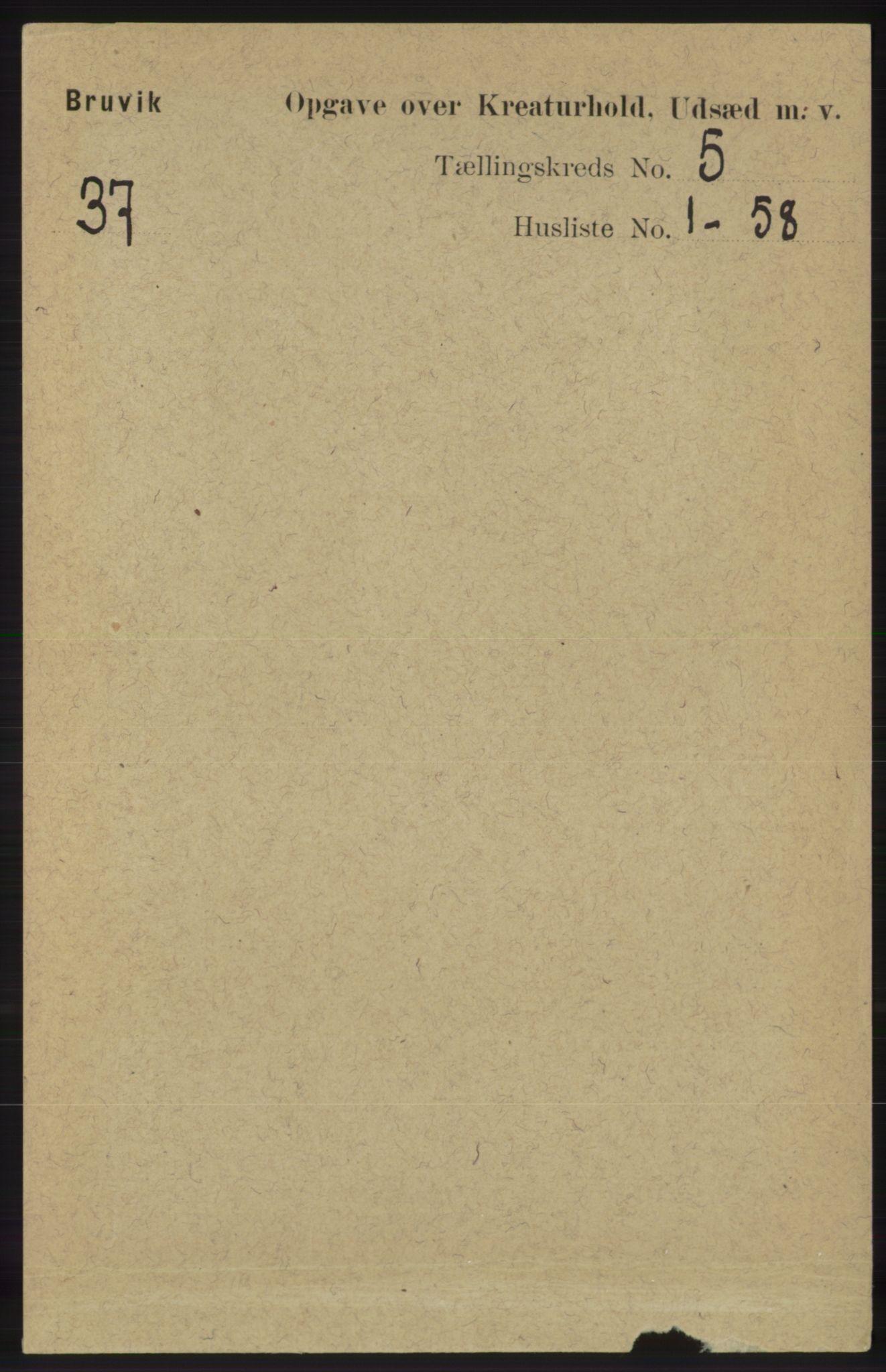 RA, Folketelling 1891 for 1251 Bruvik herred, 1891, s. 4440