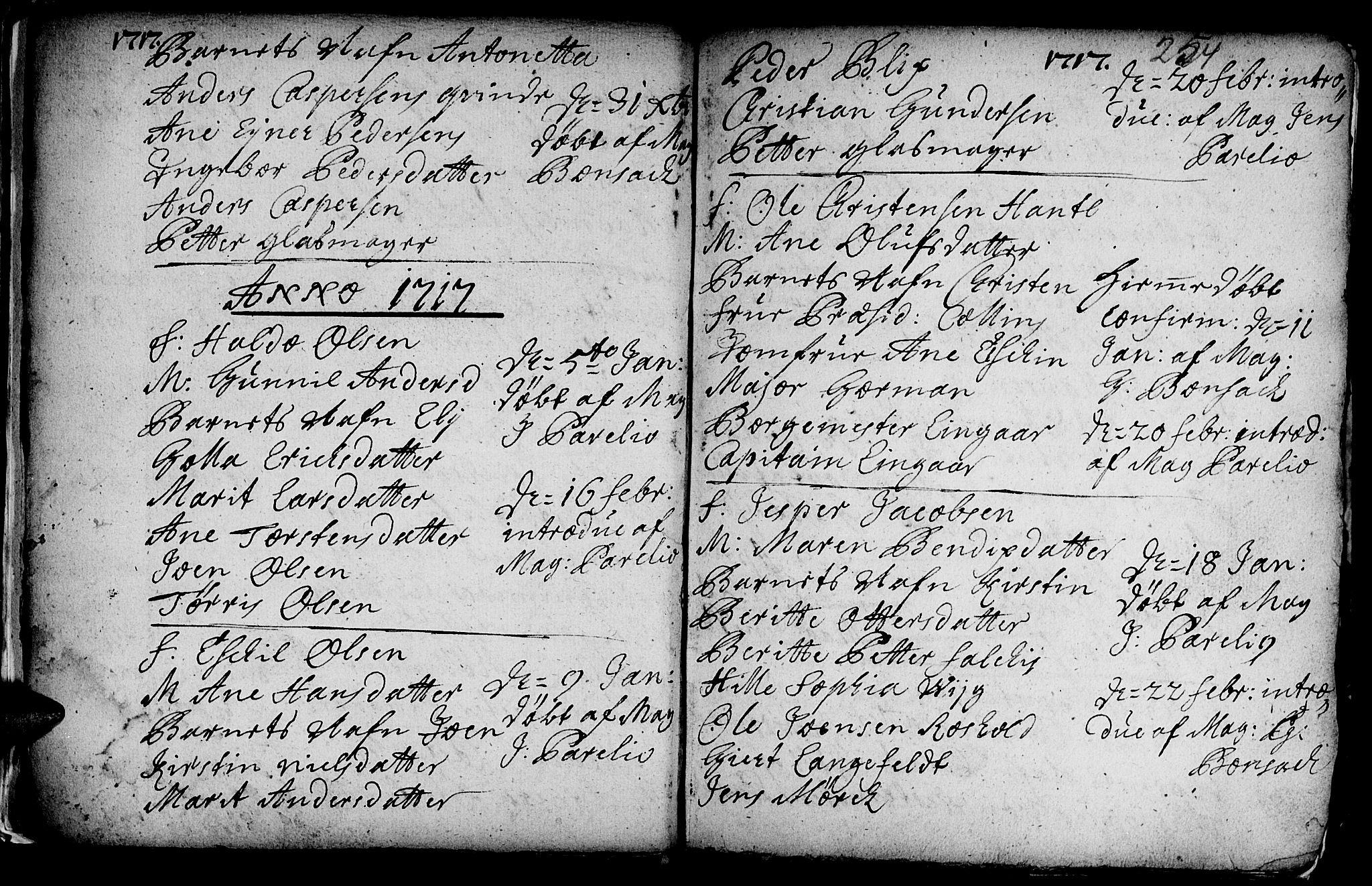 SAT, Ministerialprotokoller, klokkerbøker og fødselsregistre - Sør-Trøndelag, 601/L0035: Ministerialbok nr. 601A03, 1713-1728, s. 254