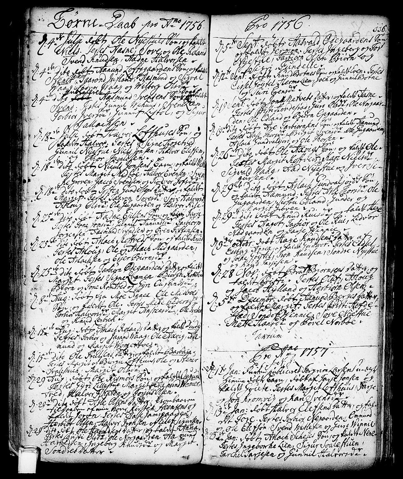 SAKO, Vinje kirkebøker, F/Fa/L0001: Ministerialbok nr. I 1, 1717-1766, s. 116