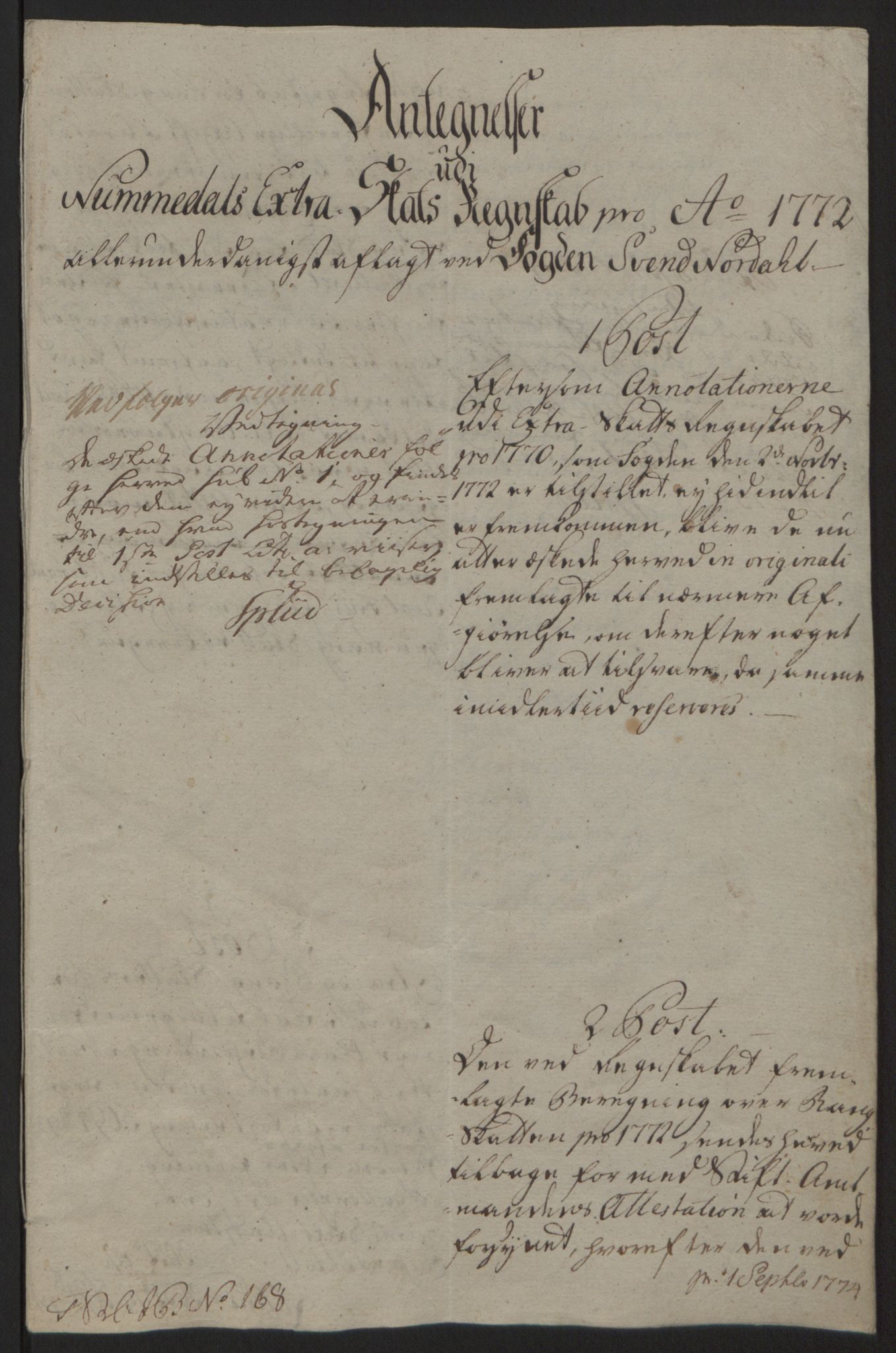 RA, Rentekammeret inntil 1814, Reviderte regnskaper, Fogderegnskap, R64/L4502: Ekstraskatten Namdal, 1762-1772, s. 473