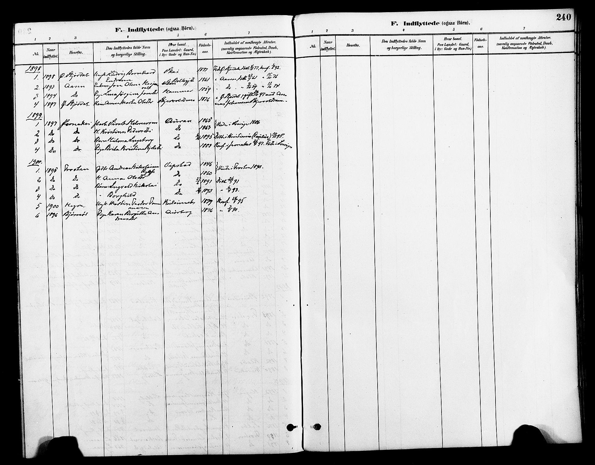 SAT, Ministerialprotokoller, klokkerbøker og fødselsregistre - Nord-Trøndelag, 712/L0100: Ministerialbok nr. 712A01, 1880-1900, s. 240