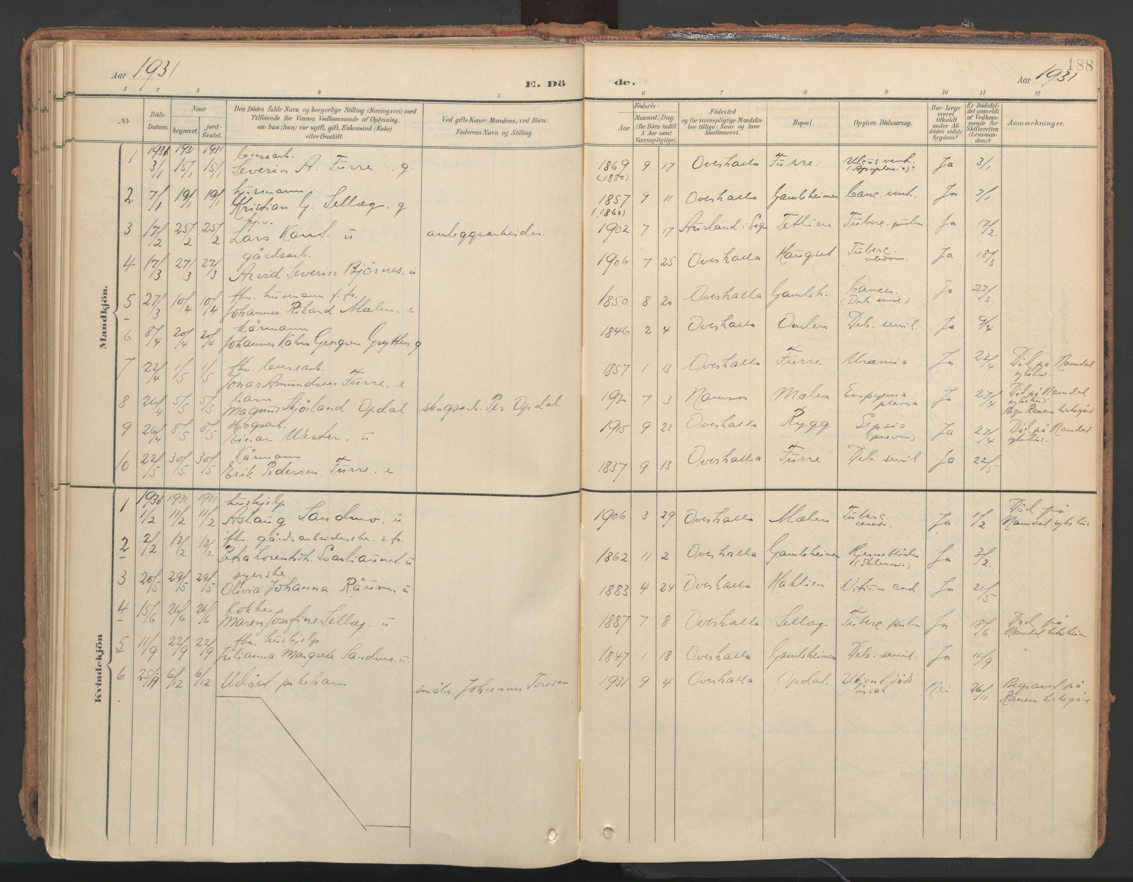 SAT, Ministerialprotokoller, klokkerbøker og fødselsregistre - Nord-Trøndelag, 766/L0564: Ministerialbok nr. 767A02, 1900-1932, s. 188