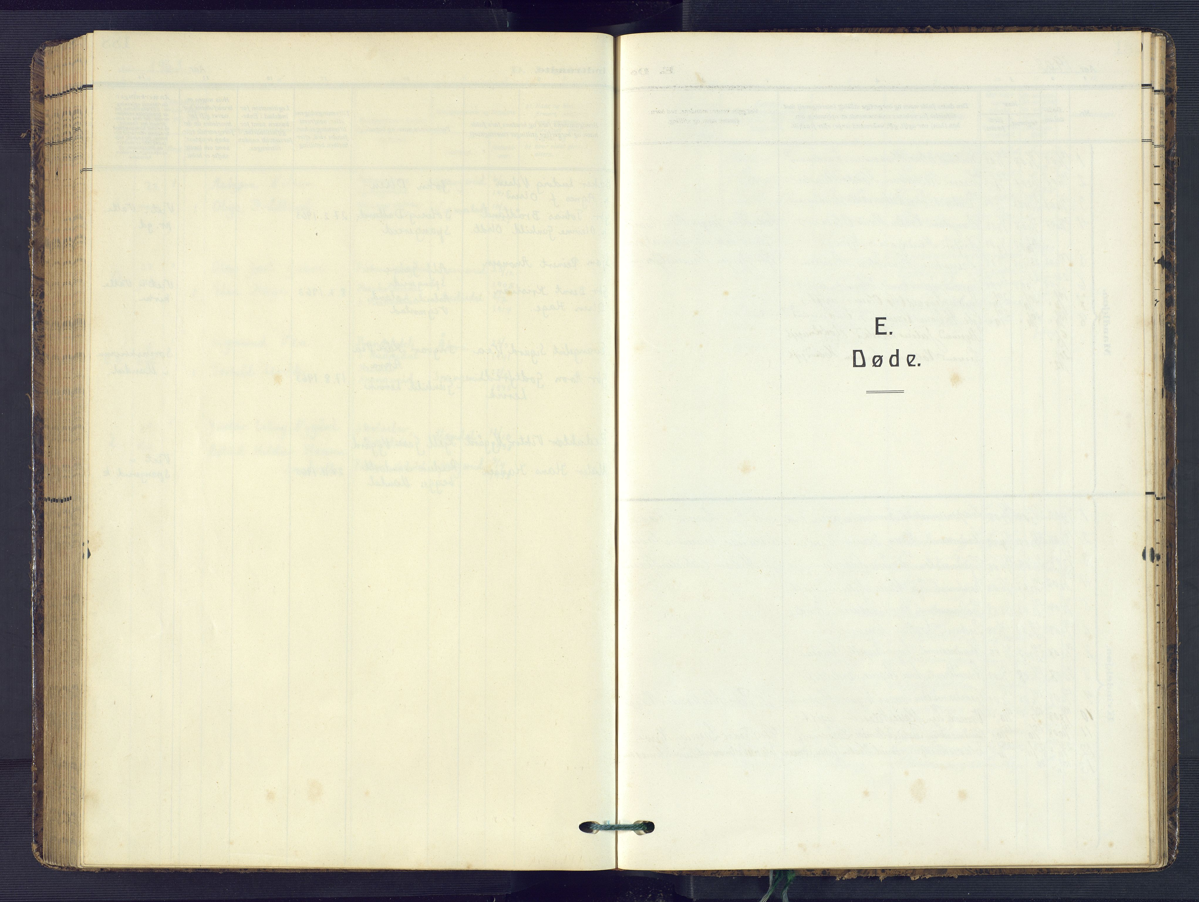 SAK, Sør-Audnedal sokneprestkontor, F/Fb/Fba/L0005: Klokkerbok nr. B 5, 1908-1963