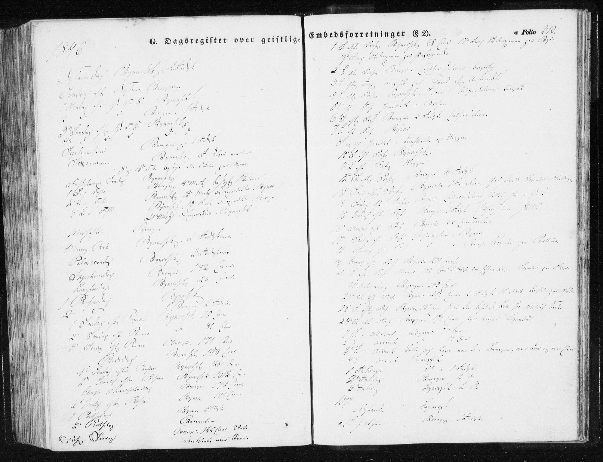 SAT, Ministerialprotokoller, klokkerbøker og fødselsregistre - Sør-Trøndelag, 612/L0376: Ministerialbok nr. 612A08, 1846-1859, s. 310