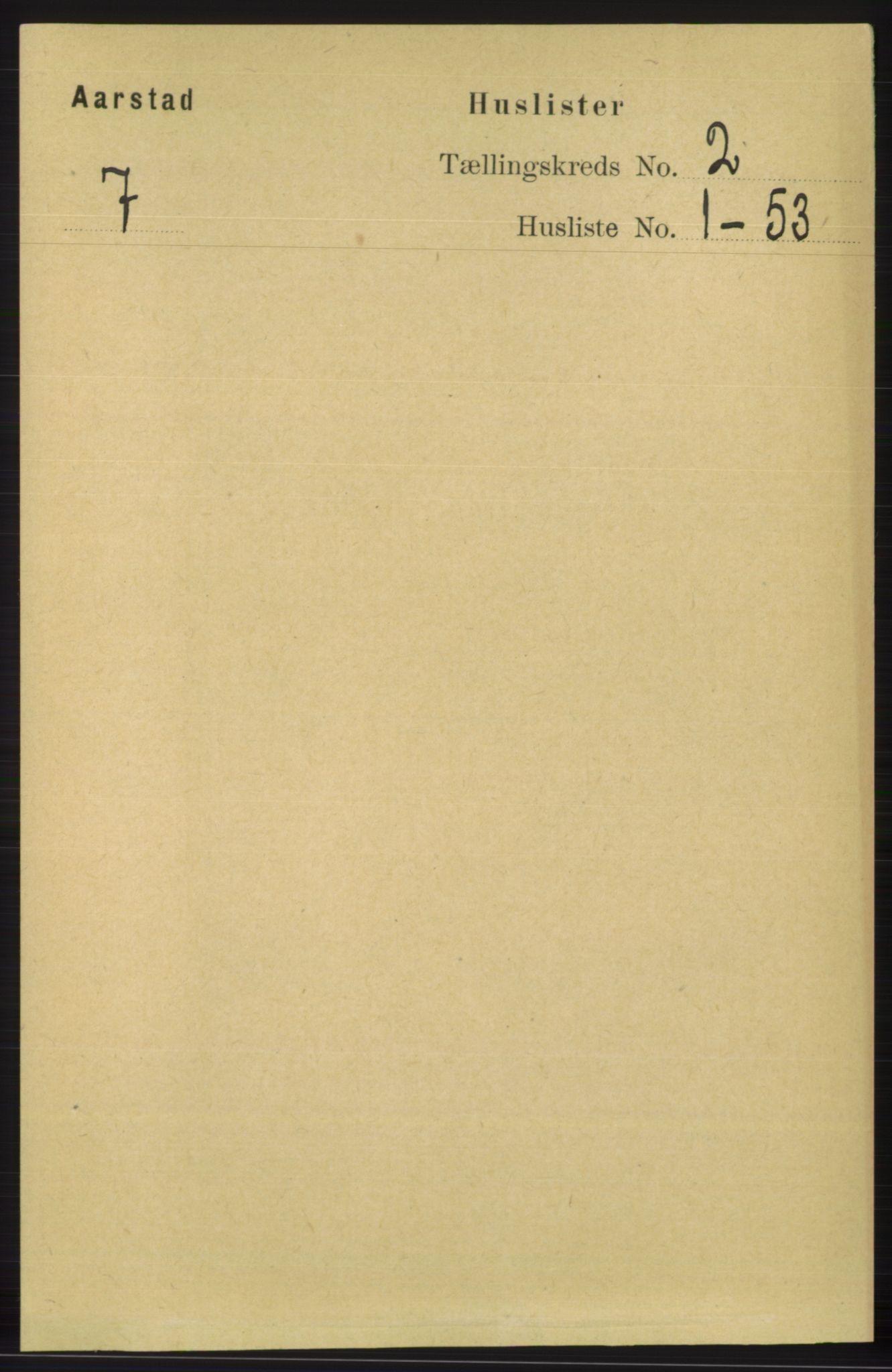 SAB, Folketelling 1891 for 1280 Årstad herred, 1891, s. 1051