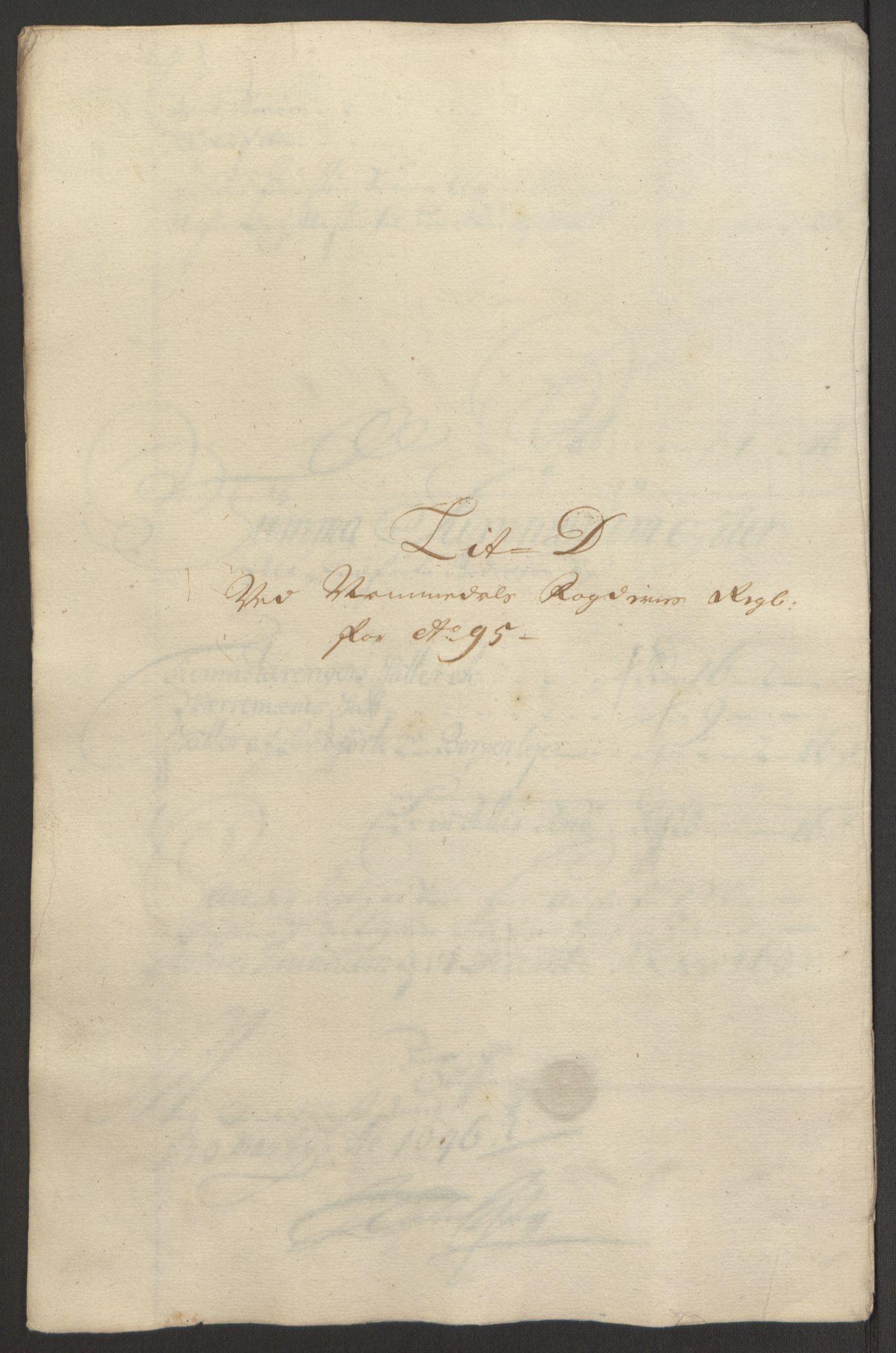 RA, Rentekammeret inntil 1814, Reviderte regnskaper, Fogderegnskap, R64/L4424: Fogderegnskap Namdal, 1692-1695, s. 468
