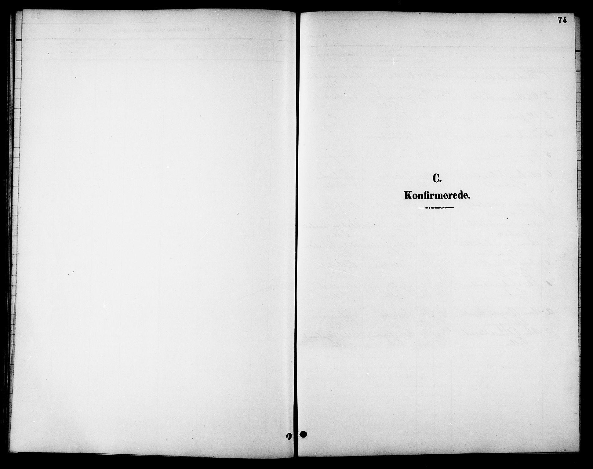 SAT, Ministerialprotokoller, klokkerbøker og fødselsregistre - Sør-Trøndelag, 621/L0460: Klokkerbok nr. 621C03, 1896-1914, s. 74
