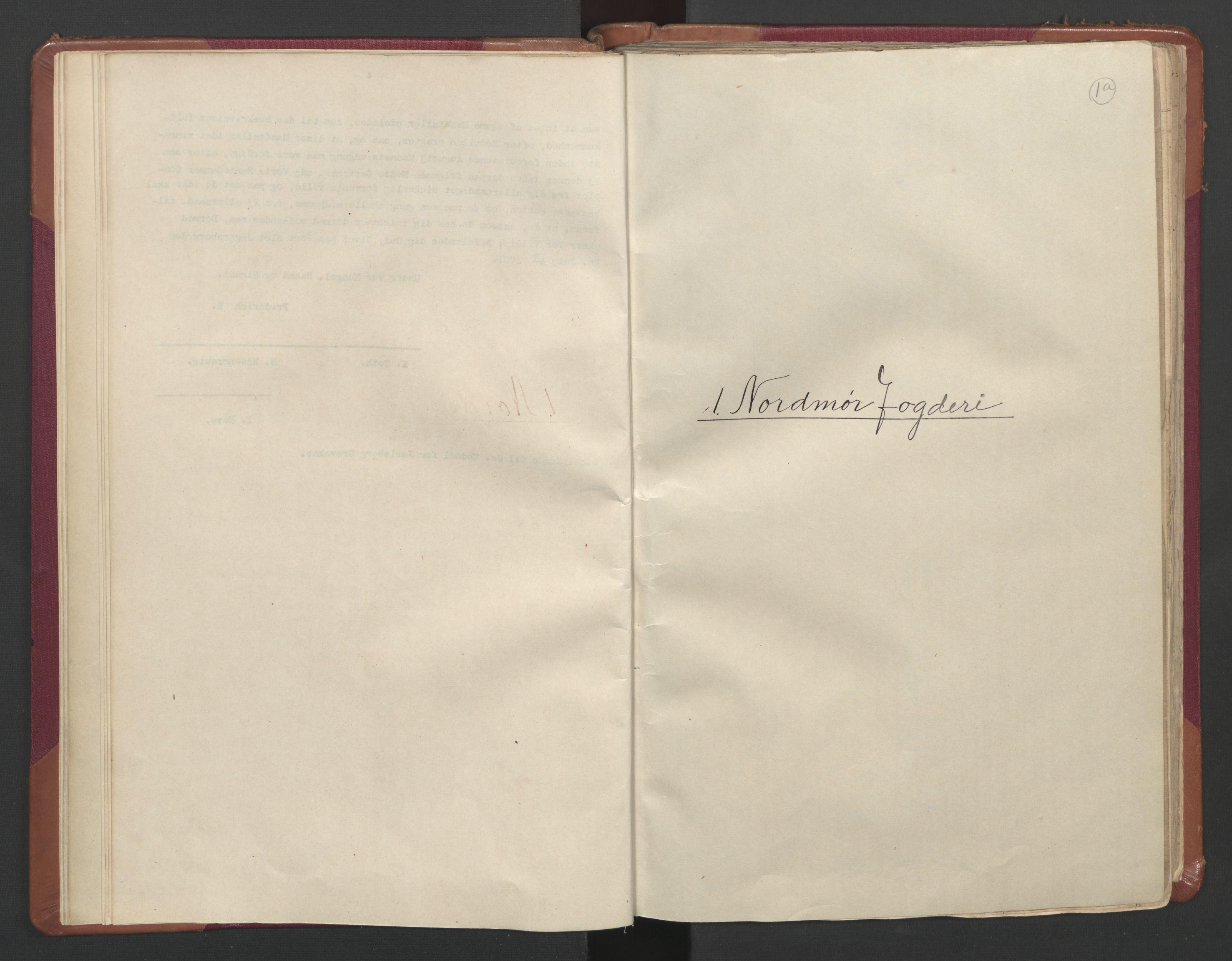 RA, Manntallet 1701, nr. 11: Nordmøre fogderi og Romsdal fogderi, 1701, s. 1a