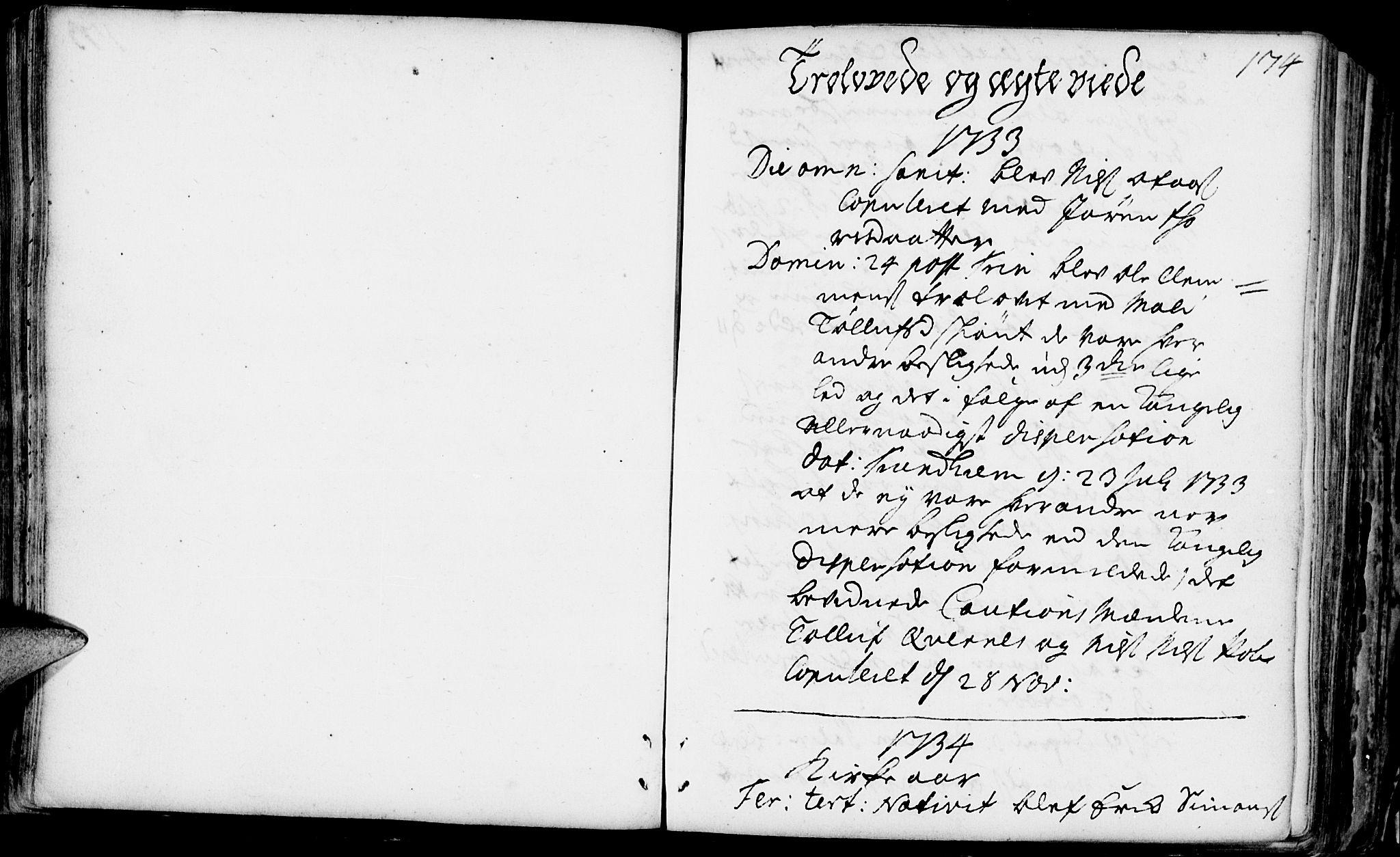 SAH, Rendalen prestekontor, H/Ha/Haa/L0001: Ministerialbok nr. 1, 1733-1787, s. 174