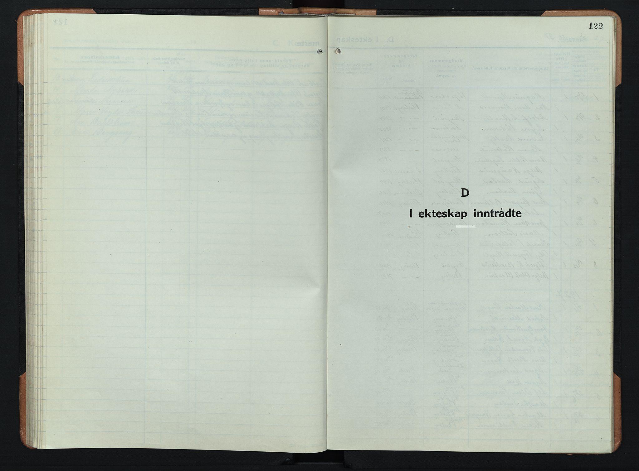 SAH, Søndre Land prestekontor, L/L0008: Klokkerbok nr. 8, 1926-1950, s. 122
