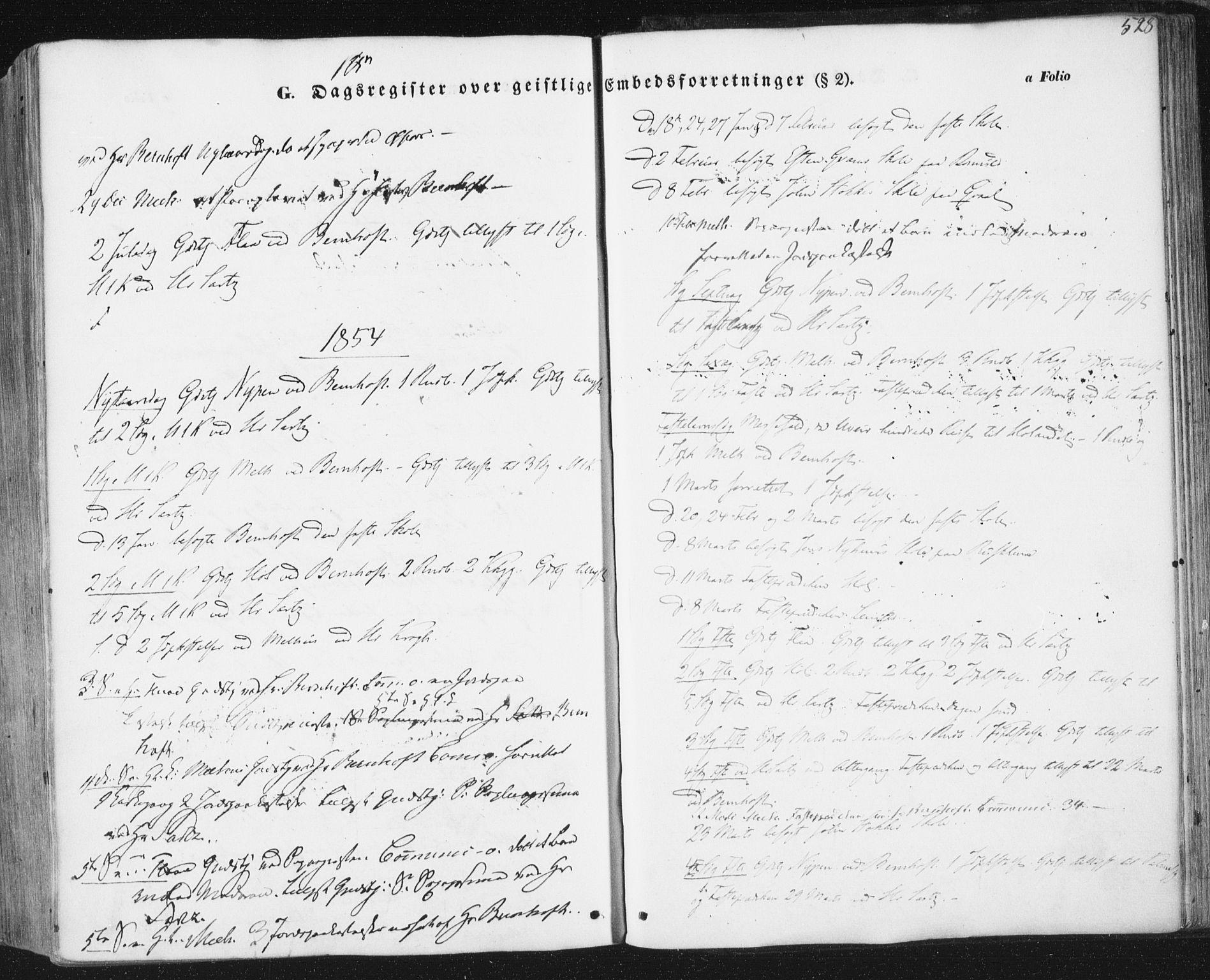 SAT, Ministerialprotokoller, klokkerbøker og fødselsregistre - Sør-Trøndelag, 691/L1076: Ministerialbok nr. 691A08, 1852-1861, s. 528