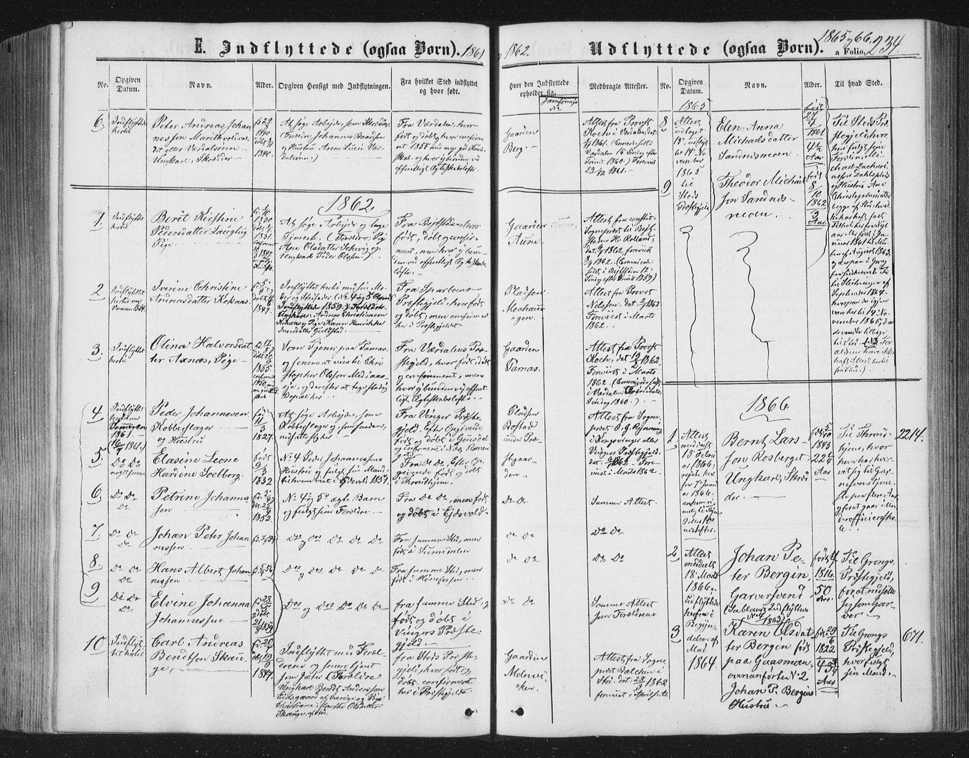 SAT, Ministerialprotokoller, klokkerbøker og fødselsregistre - Nord-Trøndelag, 749/L0472: Ministerialbok nr. 749A06, 1857-1873, s. 234