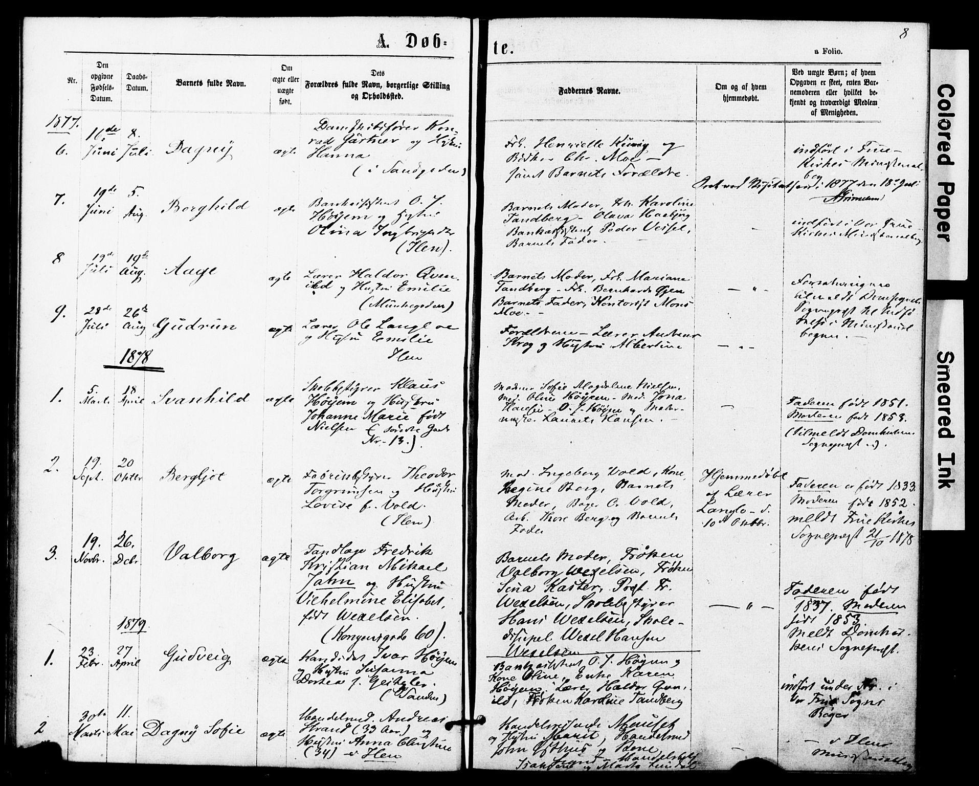 SAT, Ministerialprotokoller, klokkerbøker og fødselsregistre - Sør-Trøndelag, 623/L0469: Ministerialbok nr. 623A03, 1868-1883, s. 8