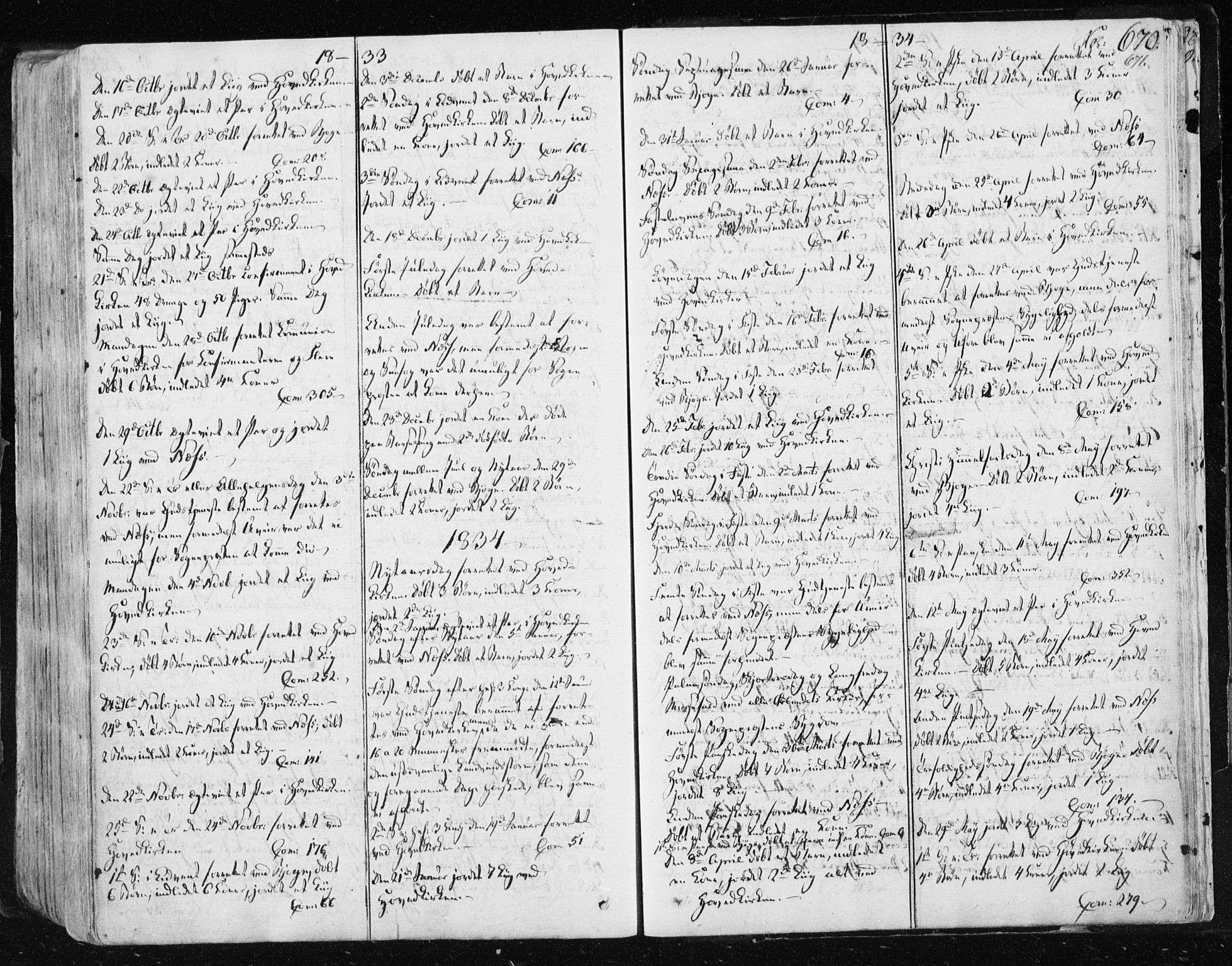 SAT, Ministerialprotokoller, klokkerbøker og fødselsregistre - Sør-Trøndelag, 659/L0735: Ministerialbok nr. 659A05, 1826-1841, s. 670
