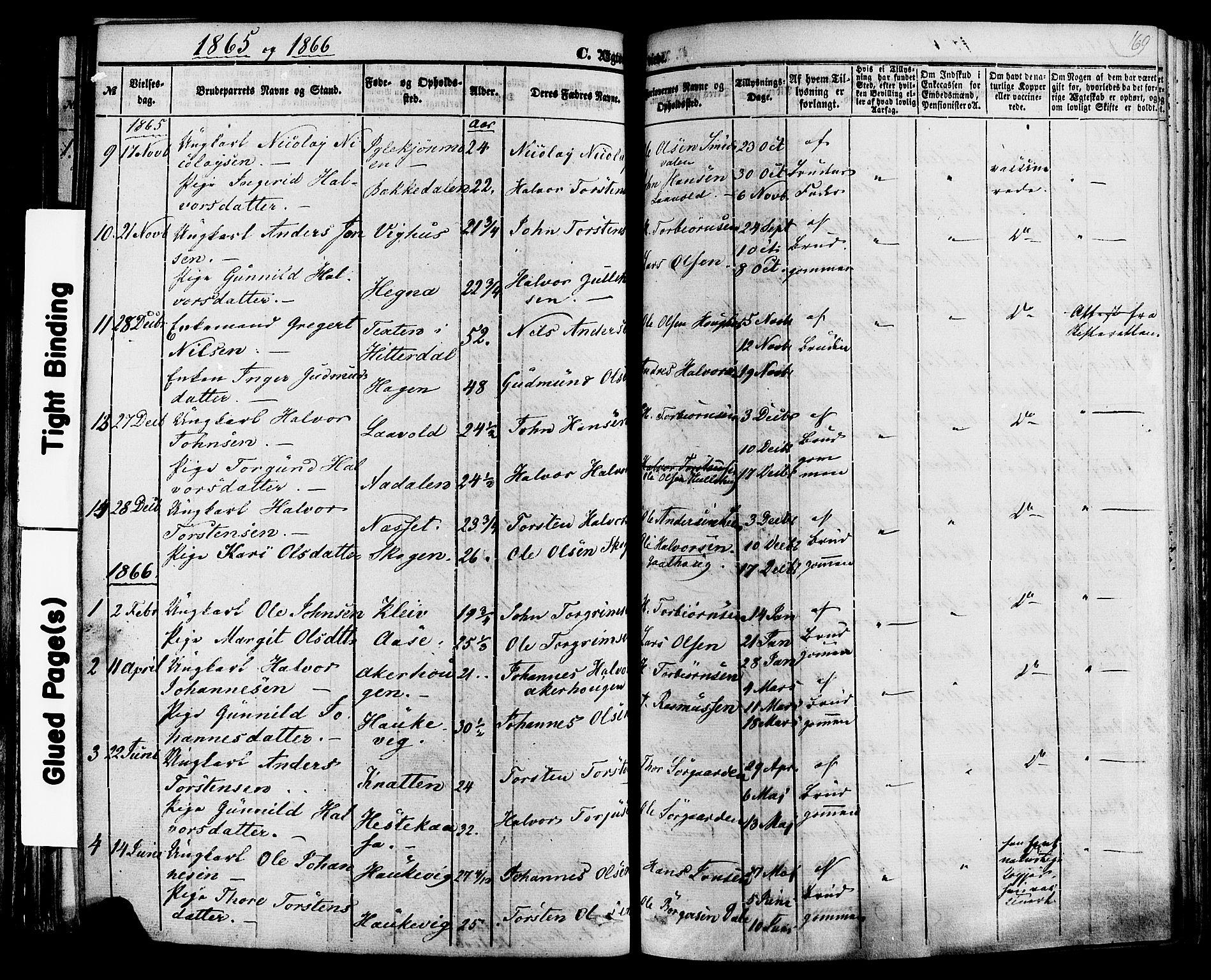 SAKO, Sauherad kirkebøker, F/Fa/L0007: Ministerialbok nr. I 7, 1851-1873, s. 169
