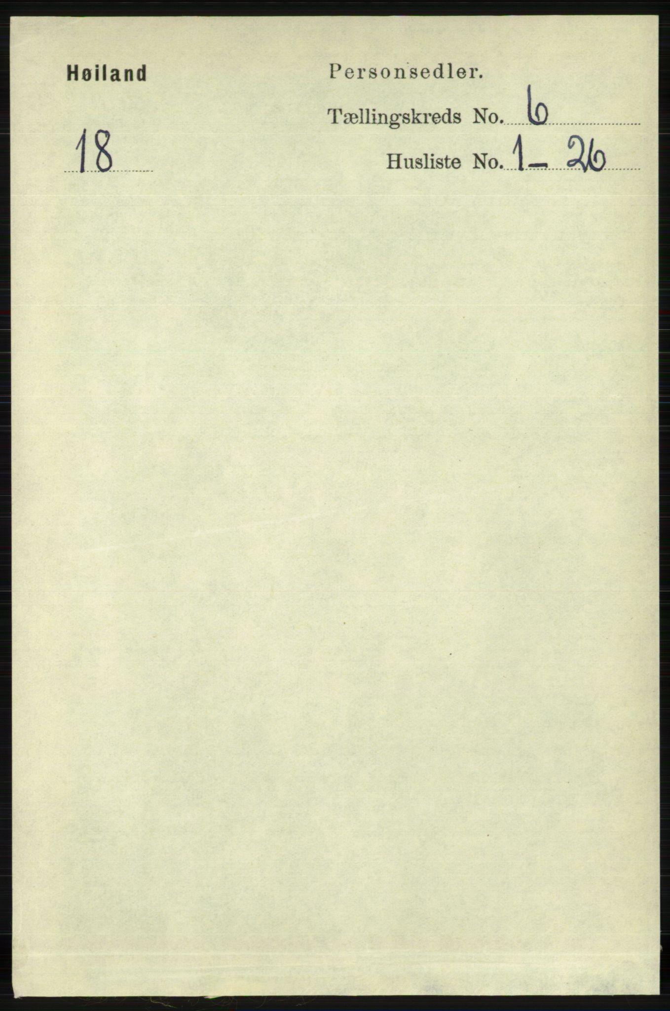 RA, Folketelling 1891 for 1123 Høyland herred, 1891, s. 1975