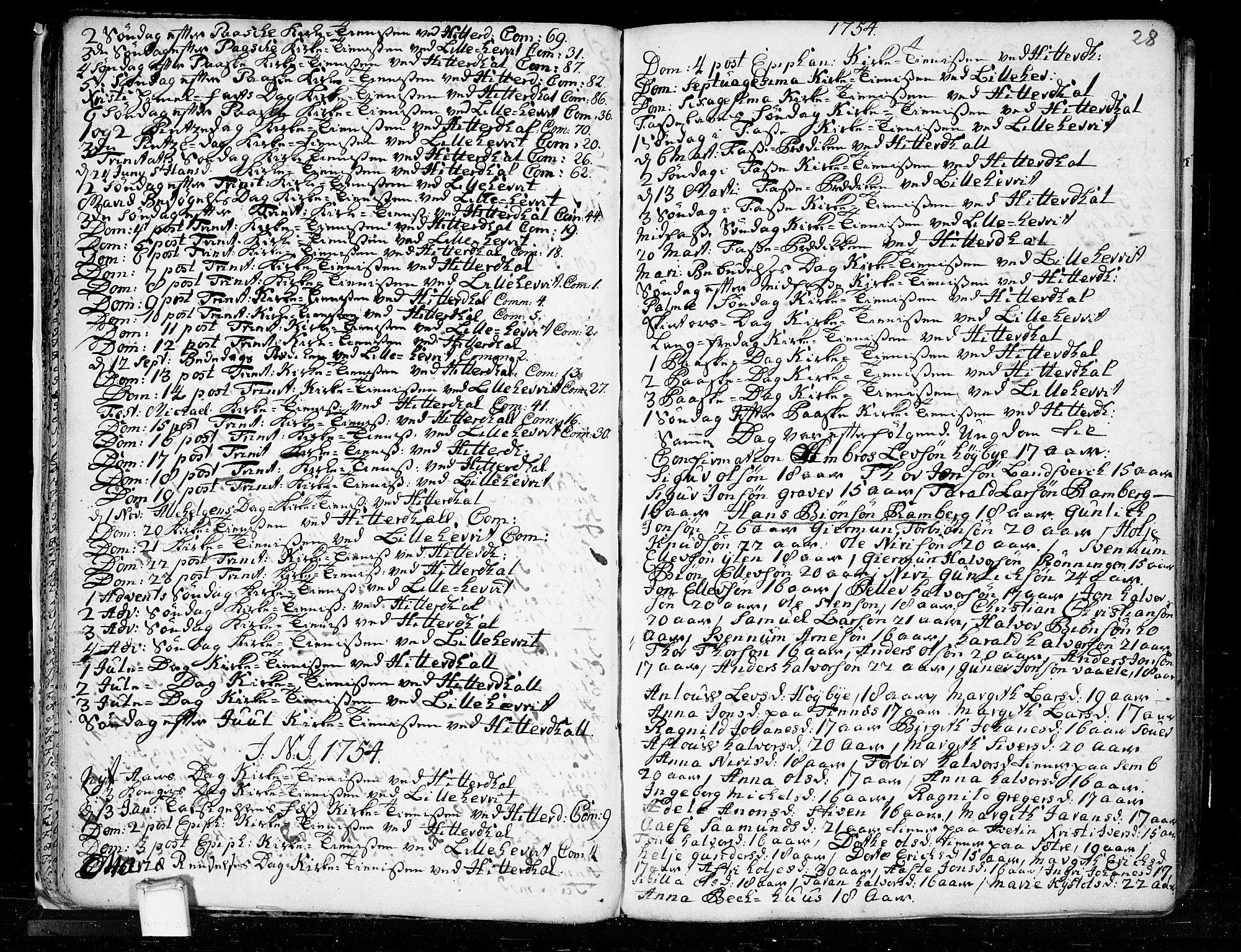 SAKO, Heddal kirkebøker, F/Fa/L0003: Ministerialbok nr. I 3, 1723-1783, s. 28