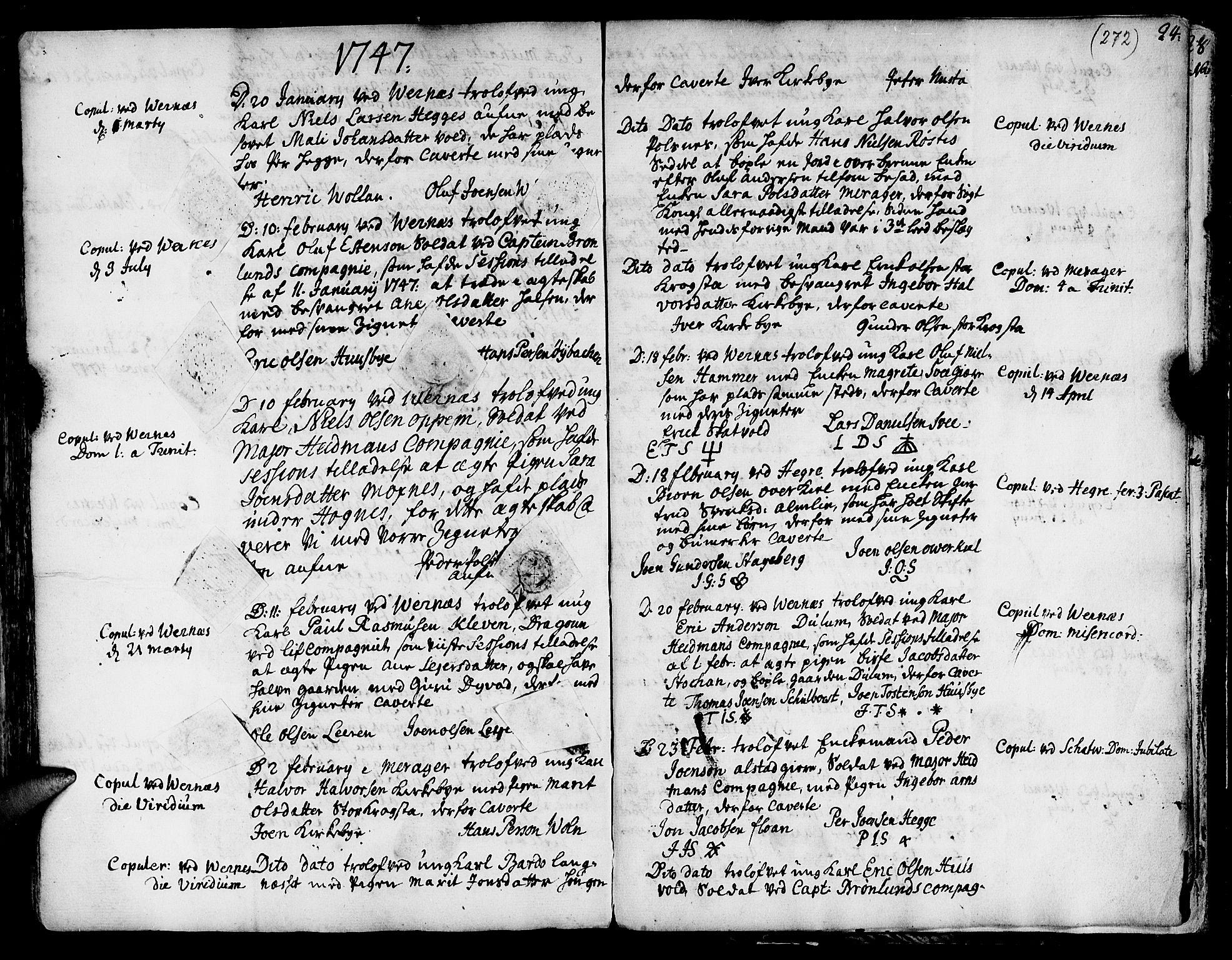 SAT, Ministerialprotokoller, klokkerbøker og fødselsregistre - Nord-Trøndelag, 709/L0056: Ministerialbok nr. 709A04, 1740-1756, s. 272