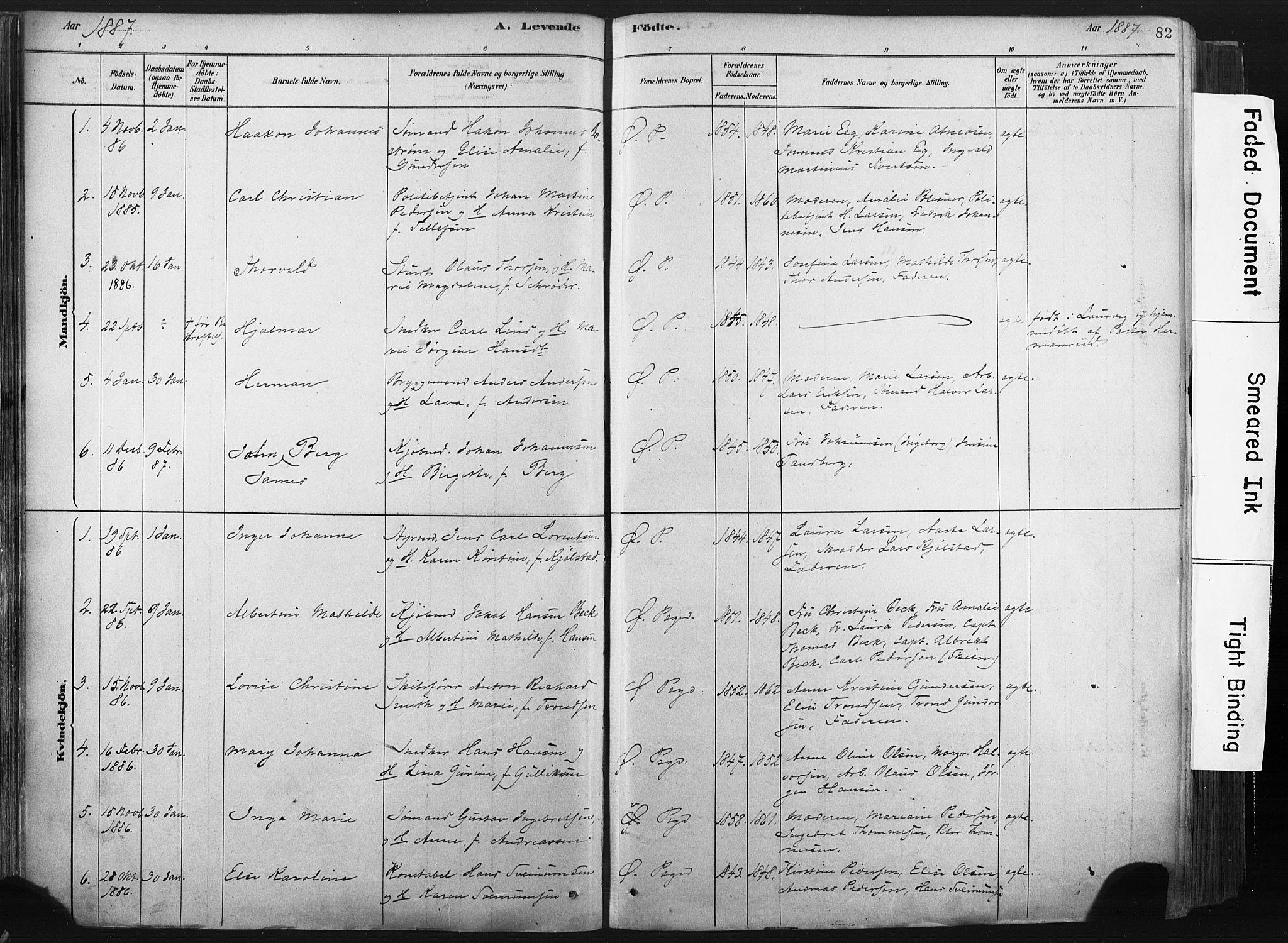 SAKO, Porsgrunn kirkebøker , F/Fa/L0008: Ministerialbok nr. 8, 1878-1895, s. 82