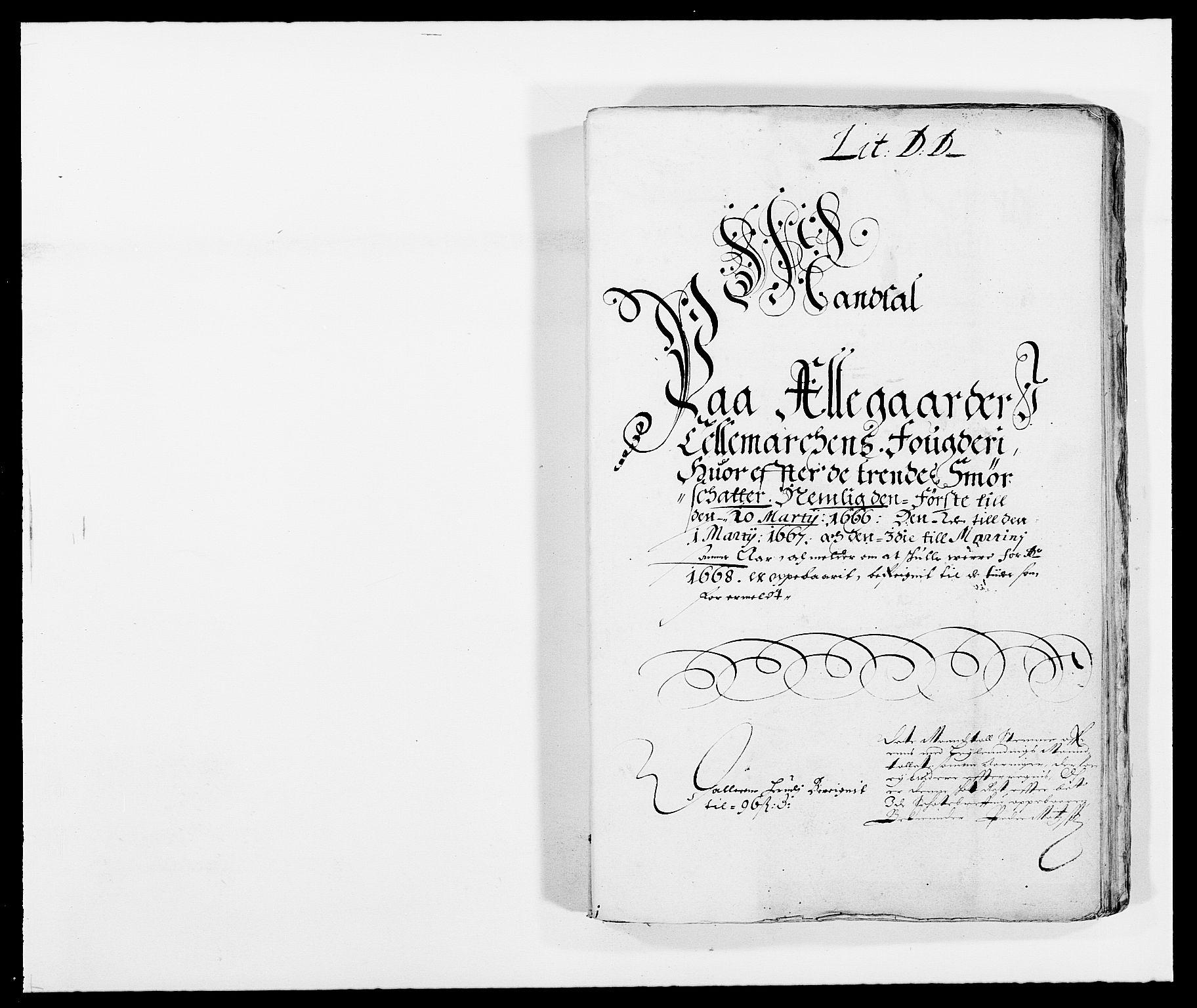 RA, Rentekammeret inntil 1814, Reviderte regnskaper, Fogderegnskap, R35/L2057: Fogderegnskap Øvre og Nedre Telemark, 1666-1667, s. 356