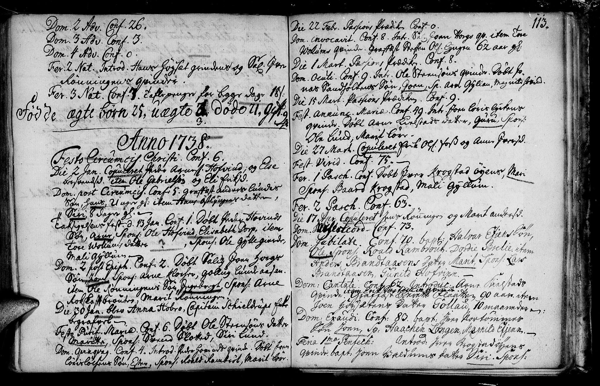 SAT, Ministerialprotokoller, klokkerbøker og fødselsregistre - Sør-Trøndelag, 692/L1101: Ministerialbok nr. 692A01, 1690-1746, s. 113