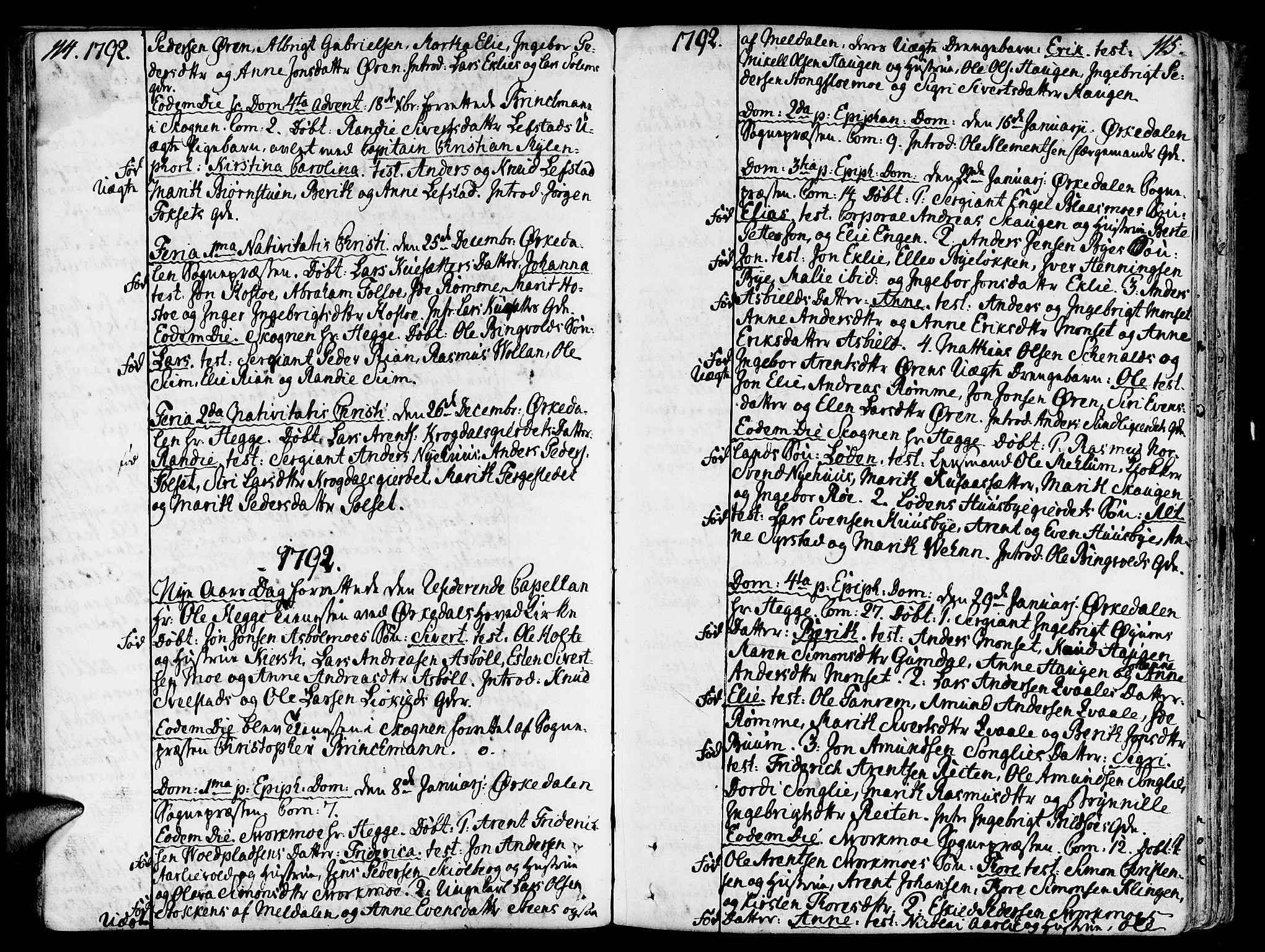 SAT, Ministerialprotokoller, klokkerbøker og fødselsregistre - Sør-Trøndelag, 668/L0802: Ministerialbok nr. 668A02, 1776-1799, s. 214-215