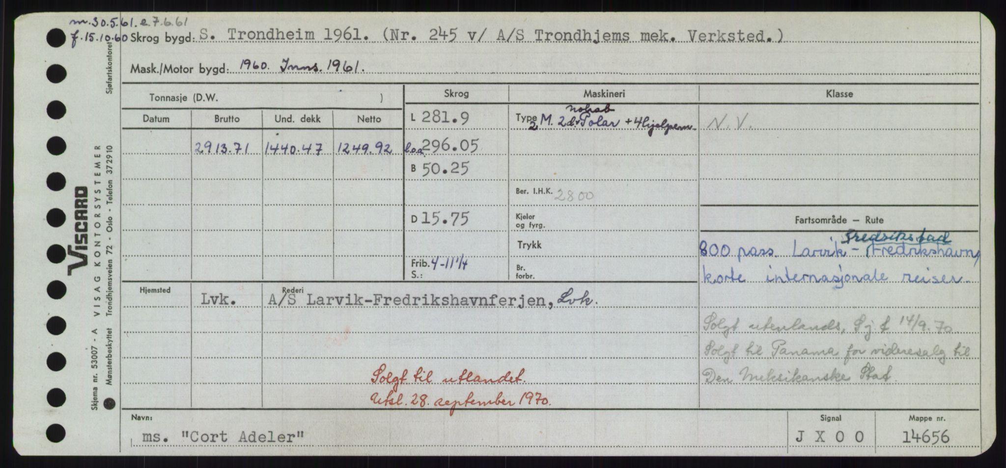 RA, Sjøfartsdirektoratet med forløpere, Skipsmålingen, H/Hd/L0008: Fartøy, C-D, s. 237