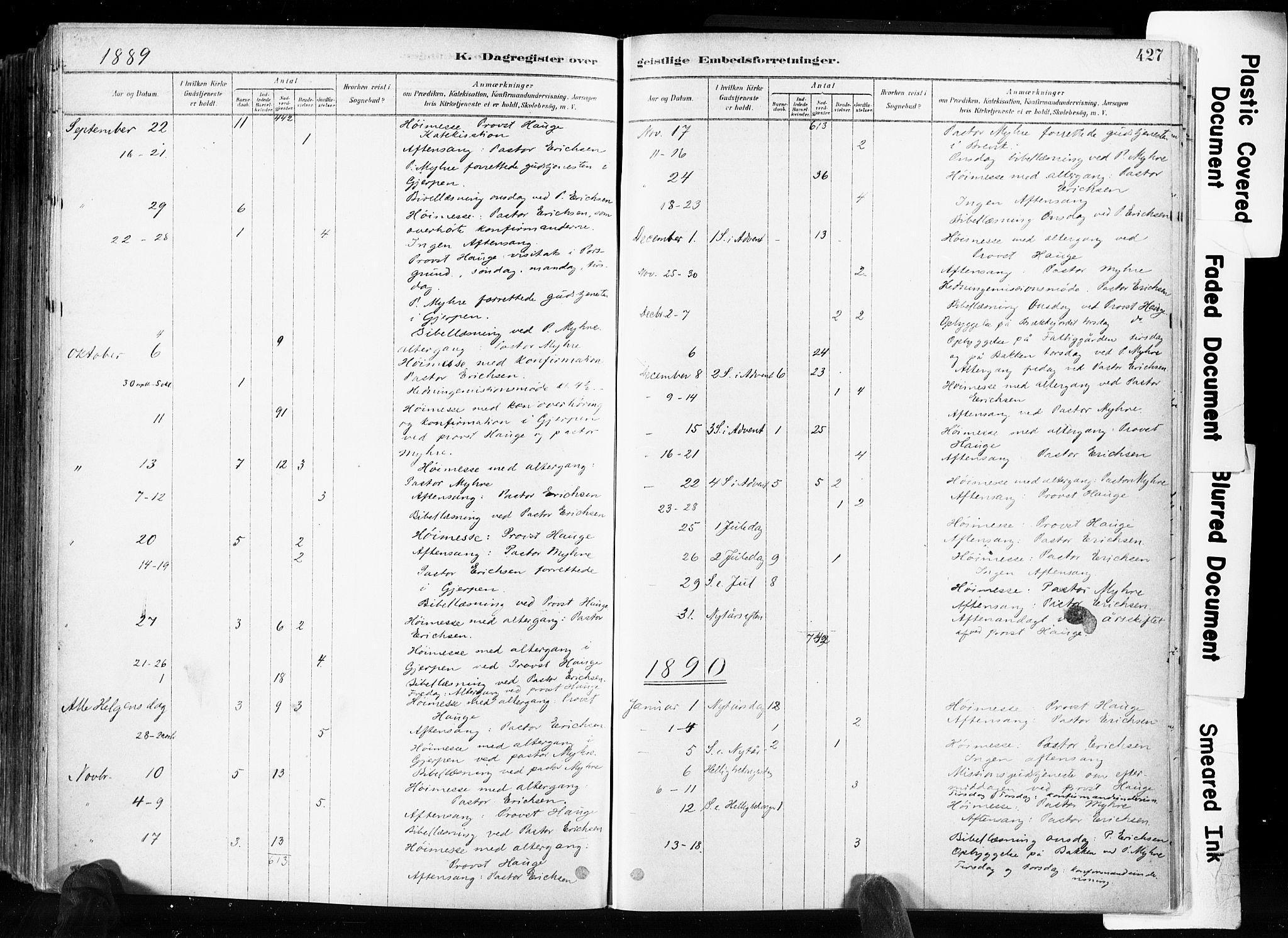 SAKO, Skien kirkebøker, F/Fa/L0009: Ministerialbok nr. 9, 1878-1890, s. 427