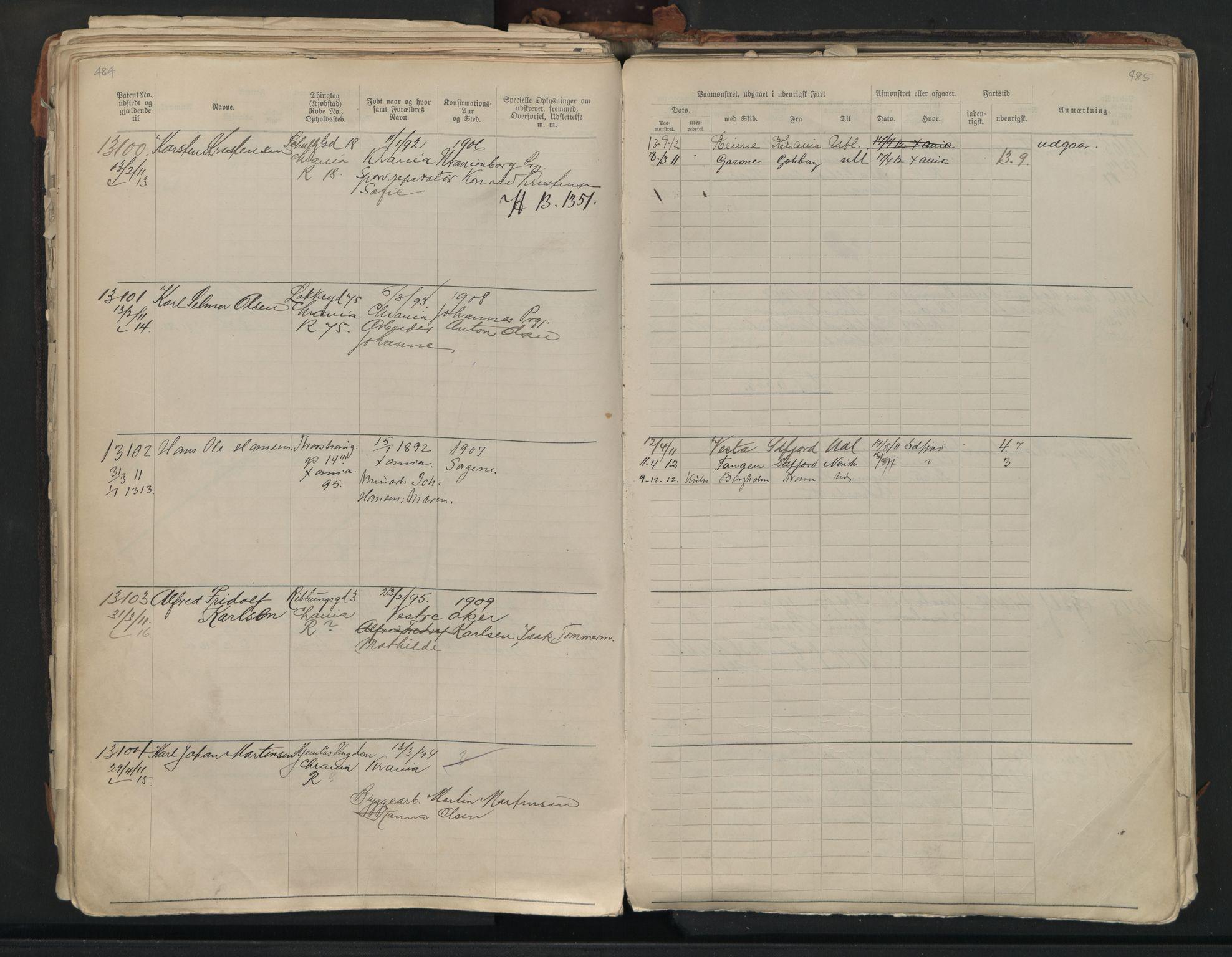 SAO, Oslo sjømannskontor, F/Fb/L0001: Annotasjonsrulle, 1908-1938, s. 484-485