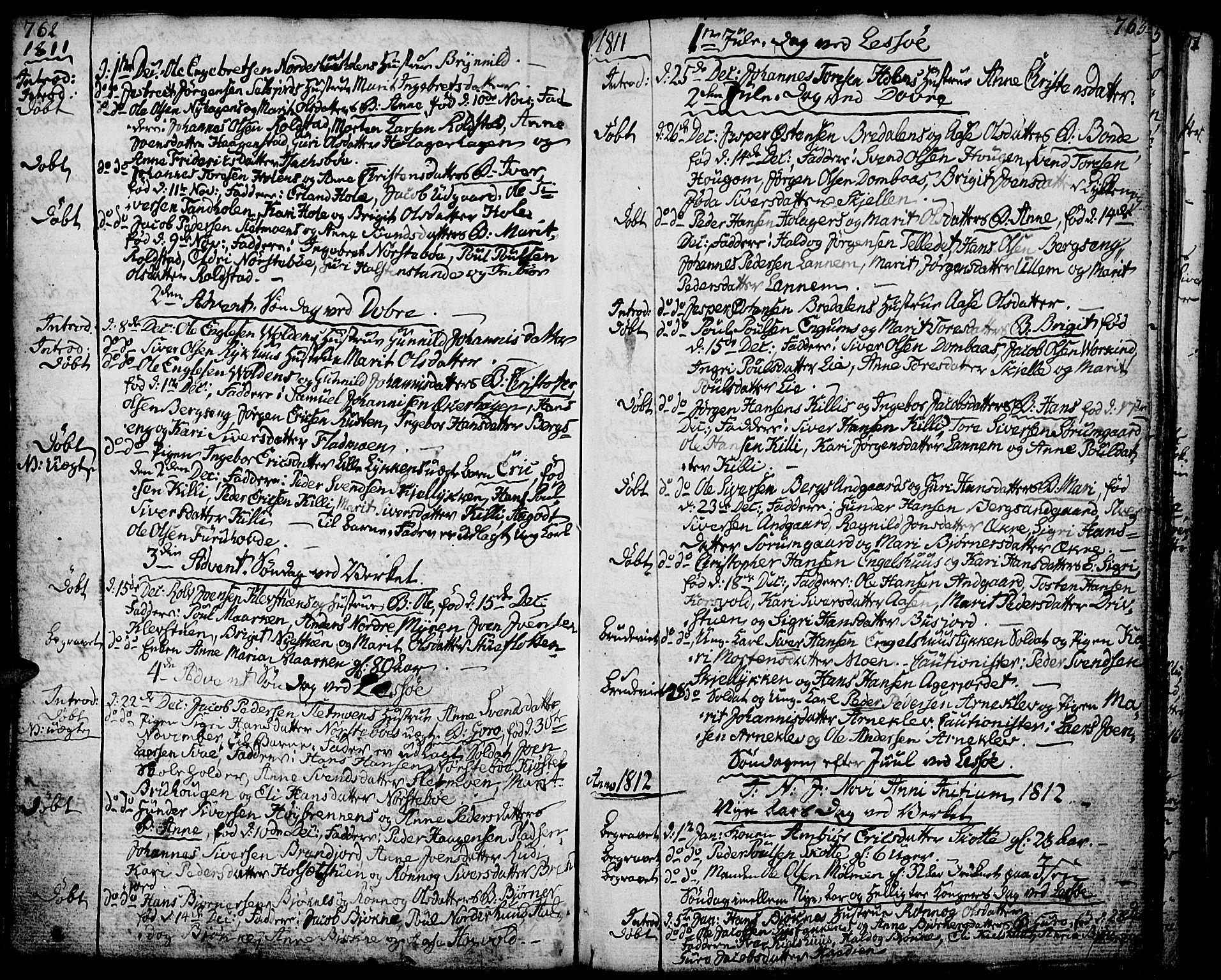 SAH, Lesja prestekontor, Ministerialbok nr. 3, 1777-1819, s. 762-763