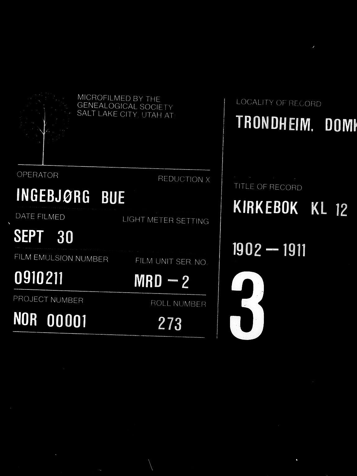 SAT, Ministerialprotokoller, klokkerbøker og fødselsregistre - Sør-Trøndelag, 601/L0095: Klokkerbok nr. 601C13, 1902-1911