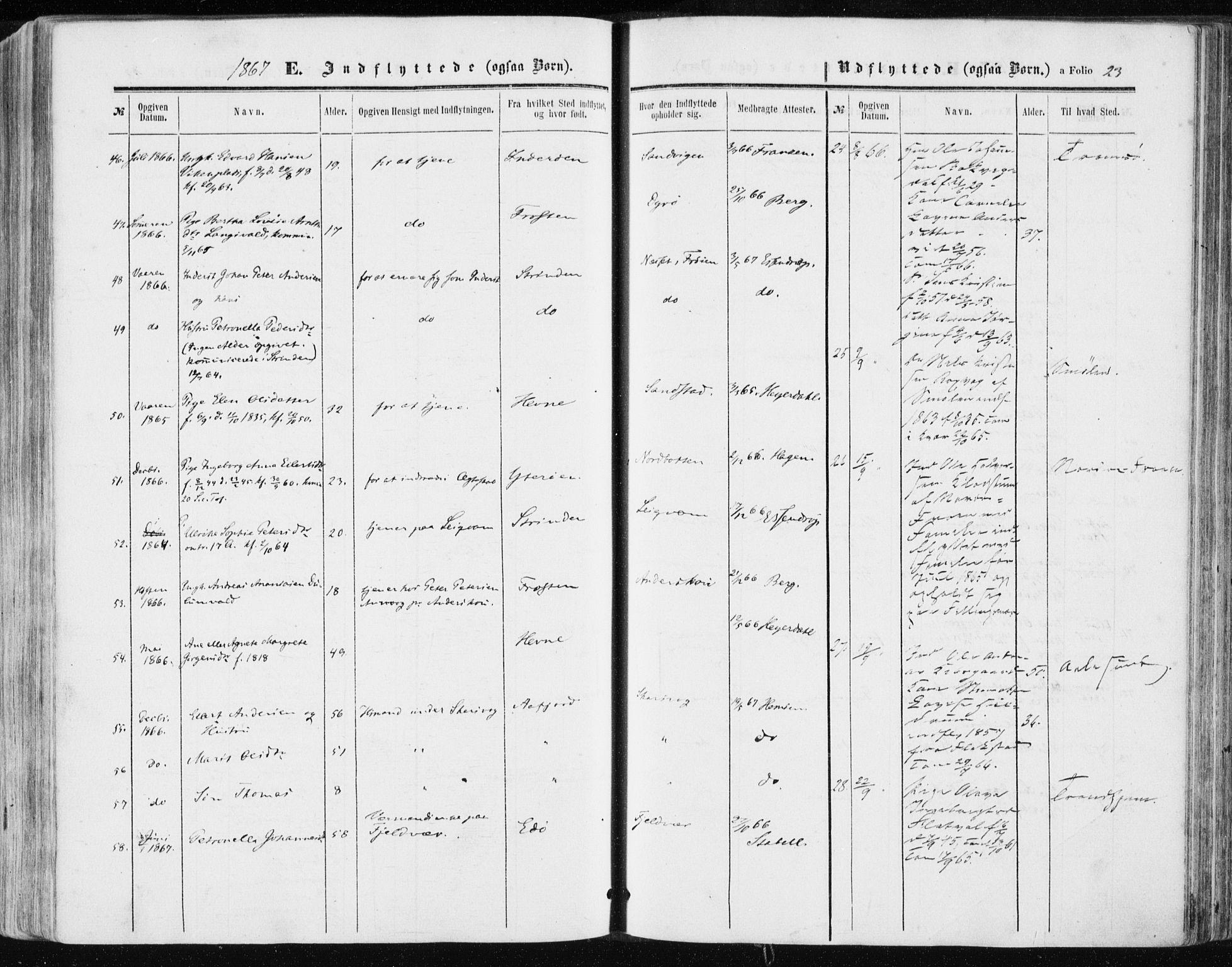 SAT, Ministerialprotokoller, klokkerbøker og fødselsregistre - Sør-Trøndelag, 634/L0531: Ministerialbok nr. 634A07, 1861-1870, s. 23
