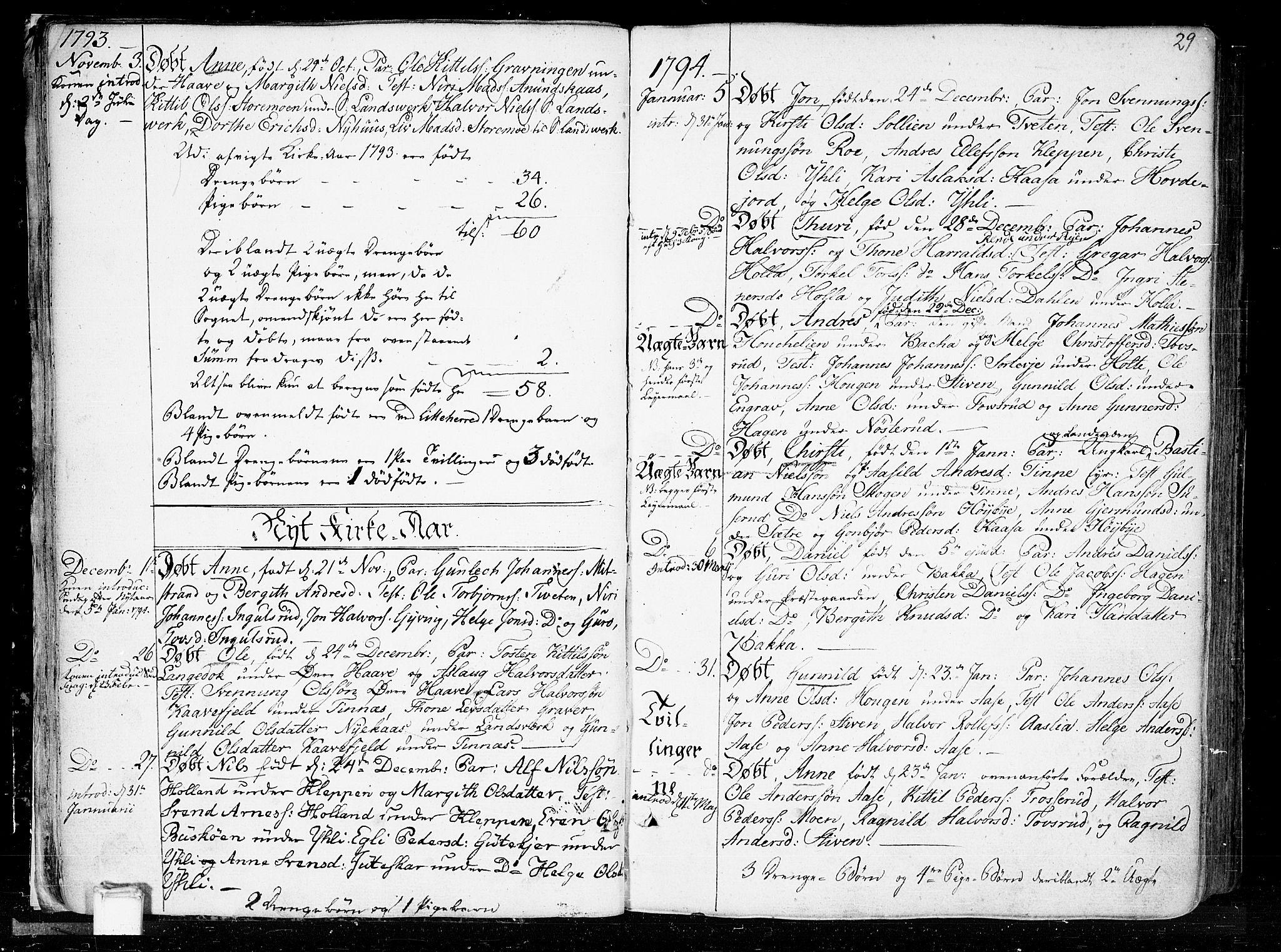 SAKO, Heddal kirkebøker, F/Fa/L0004: Ministerialbok nr. I 4, 1784-1814, s. 29