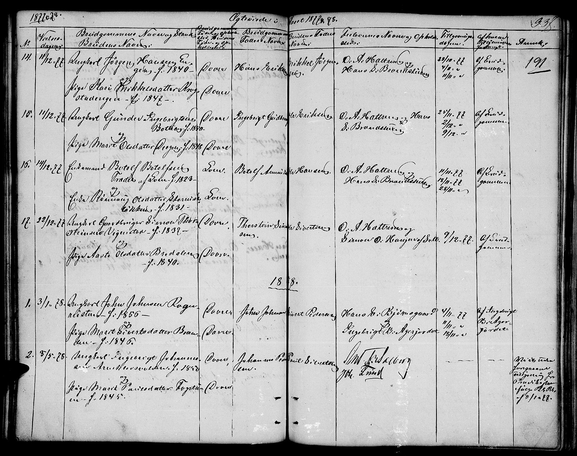 SAH, Dovre prestekontor, Klokkerbok nr. 1, 1862-1880, s. 337