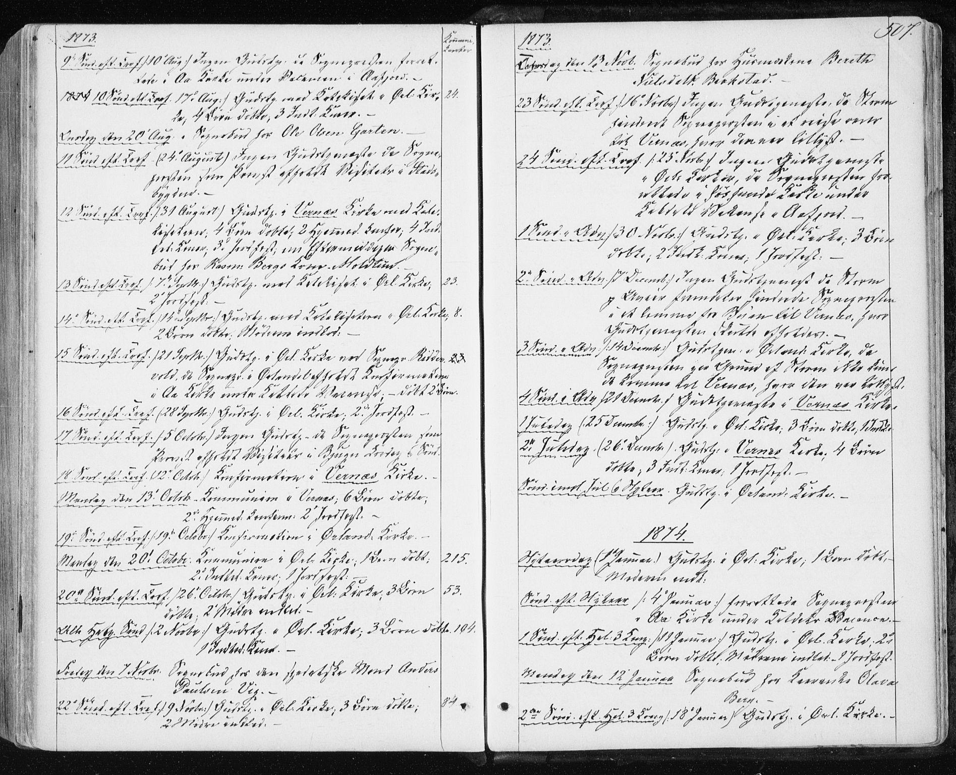 SAT, Ministerialprotokoller, klokkerbøker og fødselsregistre - Sør-Trøndelag, 659/L0737: Ministerialbok nr. 659A07, 1857-1875, s. 507