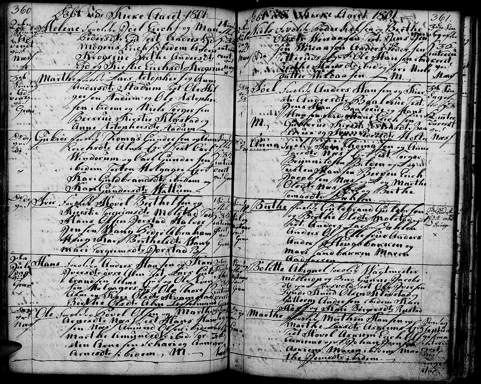 SAH, Gran prestekontor, Ministerialbok nr. 6, 1787-1824, s. 360-361