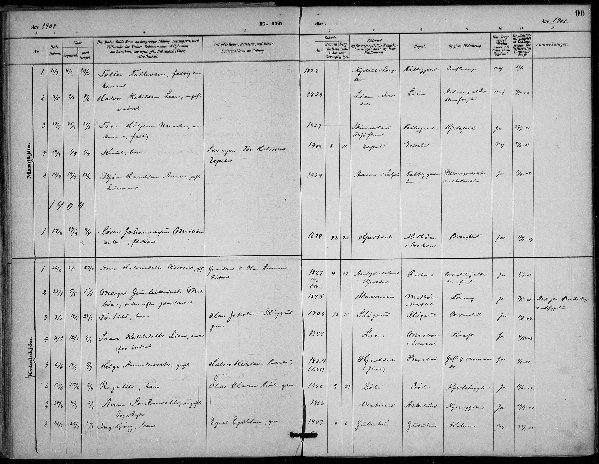 SAKO, Seljord kirkebøker, F/Fb/L0002: Ministerialbok nr. II 2, 1887-1917, s. 96