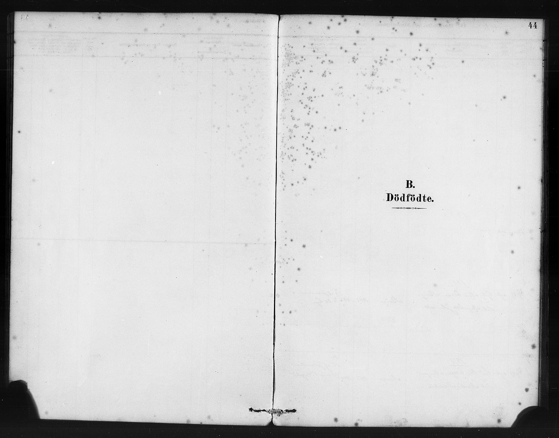 SAB, Manger sokneprestembete, H/Haa: Ministerialbok nr. B 1, 1881-1892, s. 44