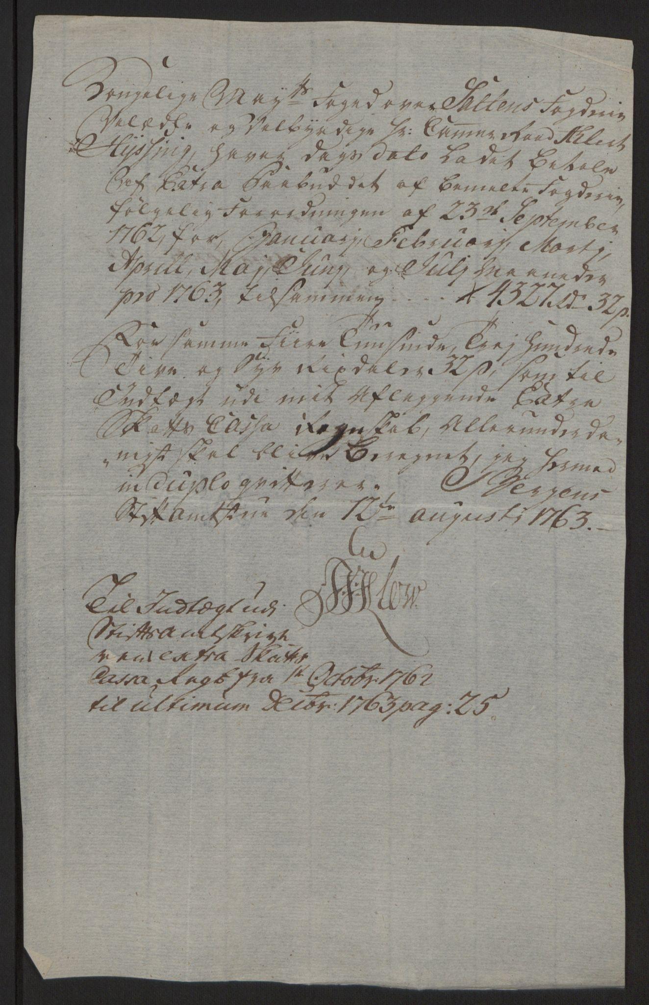 RA, Rentekammeret inntil 1814, Reviderte regnskaper, Fogderegnskap, R66/L4670: Ekstraskatten Salten, 1762-1764, s. 158