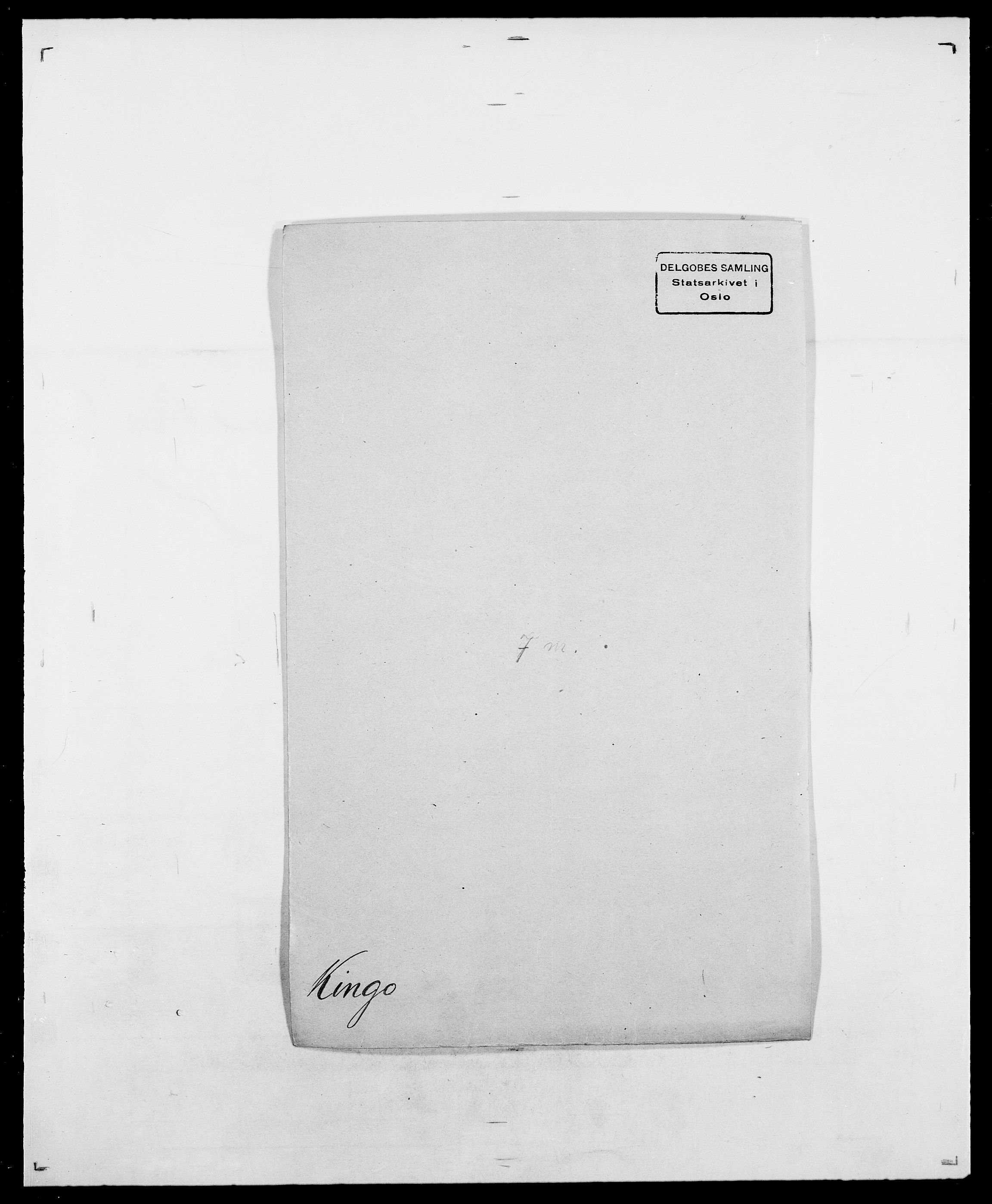 SAO, Delgobe, Charles Antoine - samling, D/Da/L0020: Irgens - Kjøsterud, s. 616