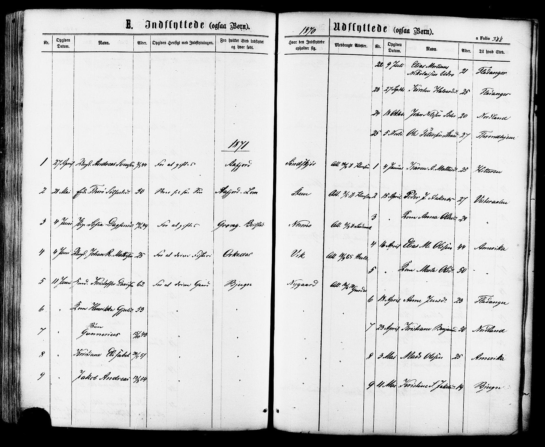 SAT, Ministerialprotokoller, klokkerbøker og fødselsregistre - Sør-Trøndelag, 657/L0706: Ministerialbok nr. 657A07, 1867-1878, s. 388