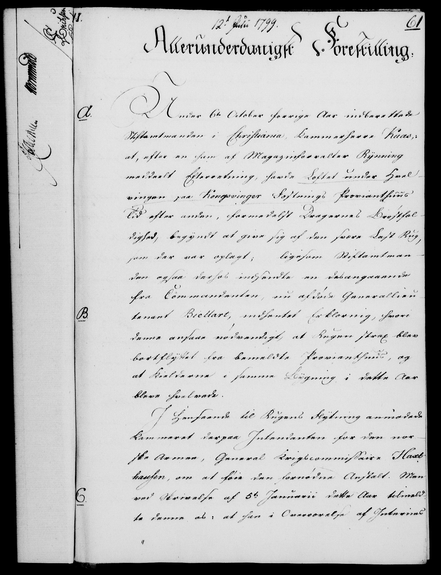 RA, Rentekammeret, Kammerkanselliet, G/Gf/Gfa/L0081: Norsk relasjons- og resolusjonsprotokoll (merket RK 52.81), 1799, s. 398