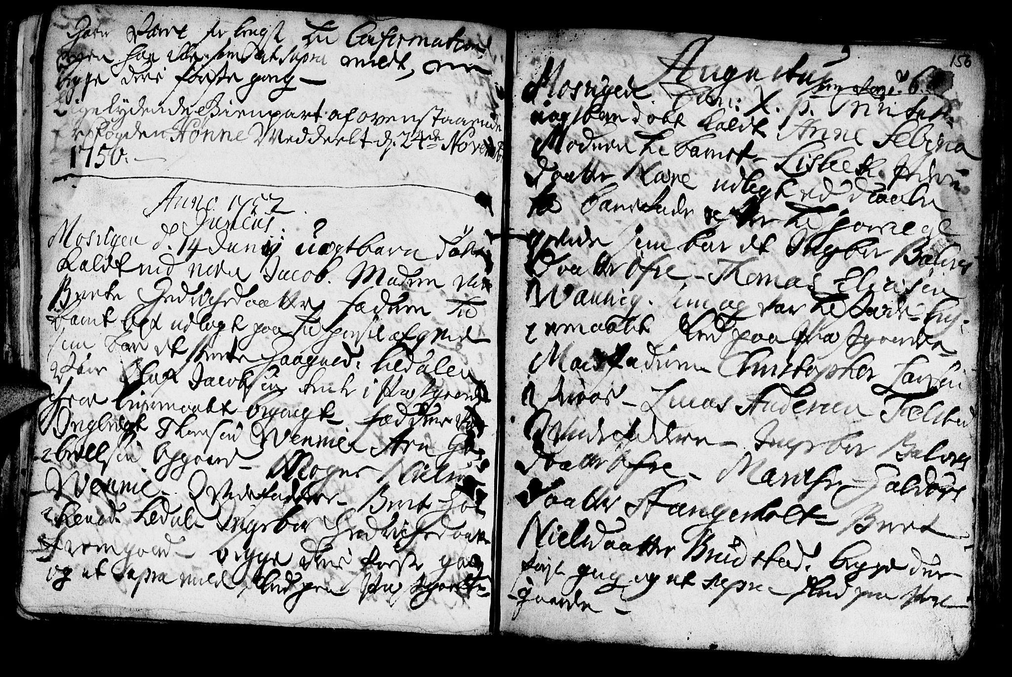 SAT, Ministerialprotokoller, klokkerbøker og fødselsregistre - Nord-Trøndelag, 722/L0215: Ministerialbok nr. 722A02, 1718-1755, s. 156