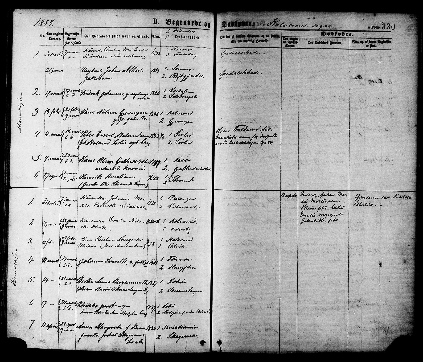 SAT, Ministerialprotokoller, klokkerbøker og fødselsregistre - Nord-Trøndelag, 780/L0642: Ministerialbok nr. 780A07 /1, 1874-1885, s. 330